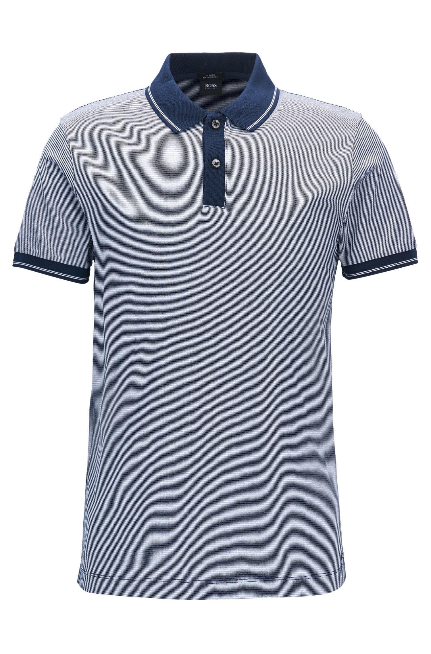 d41b3d58 BOSS Mercerized Cotton Polo Shirt, Slim Fit | Phillipson in Blue for ...