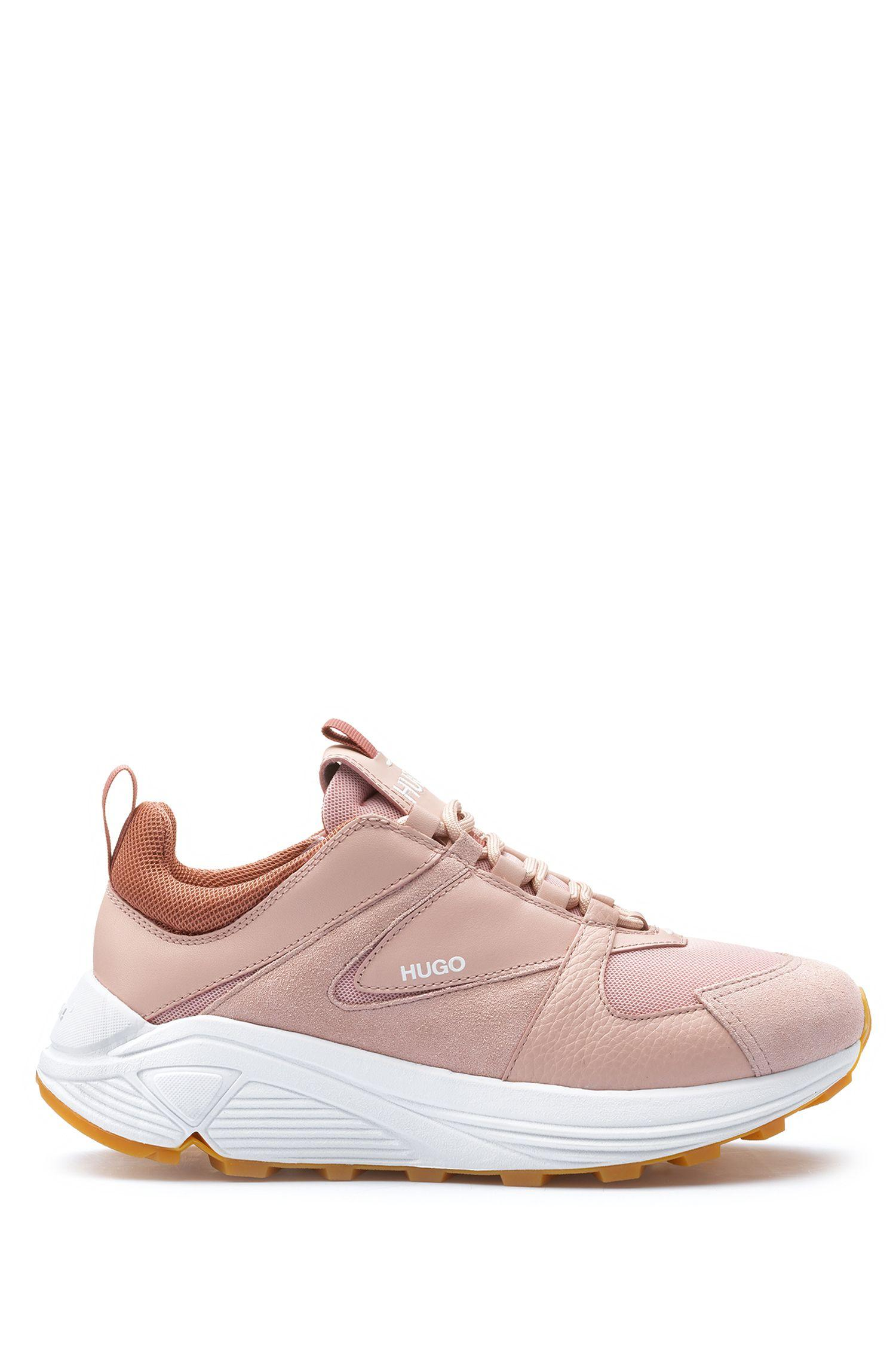 7f5efe8b56a HUGO - Pink Chunky Running-style Trainers In Mesh