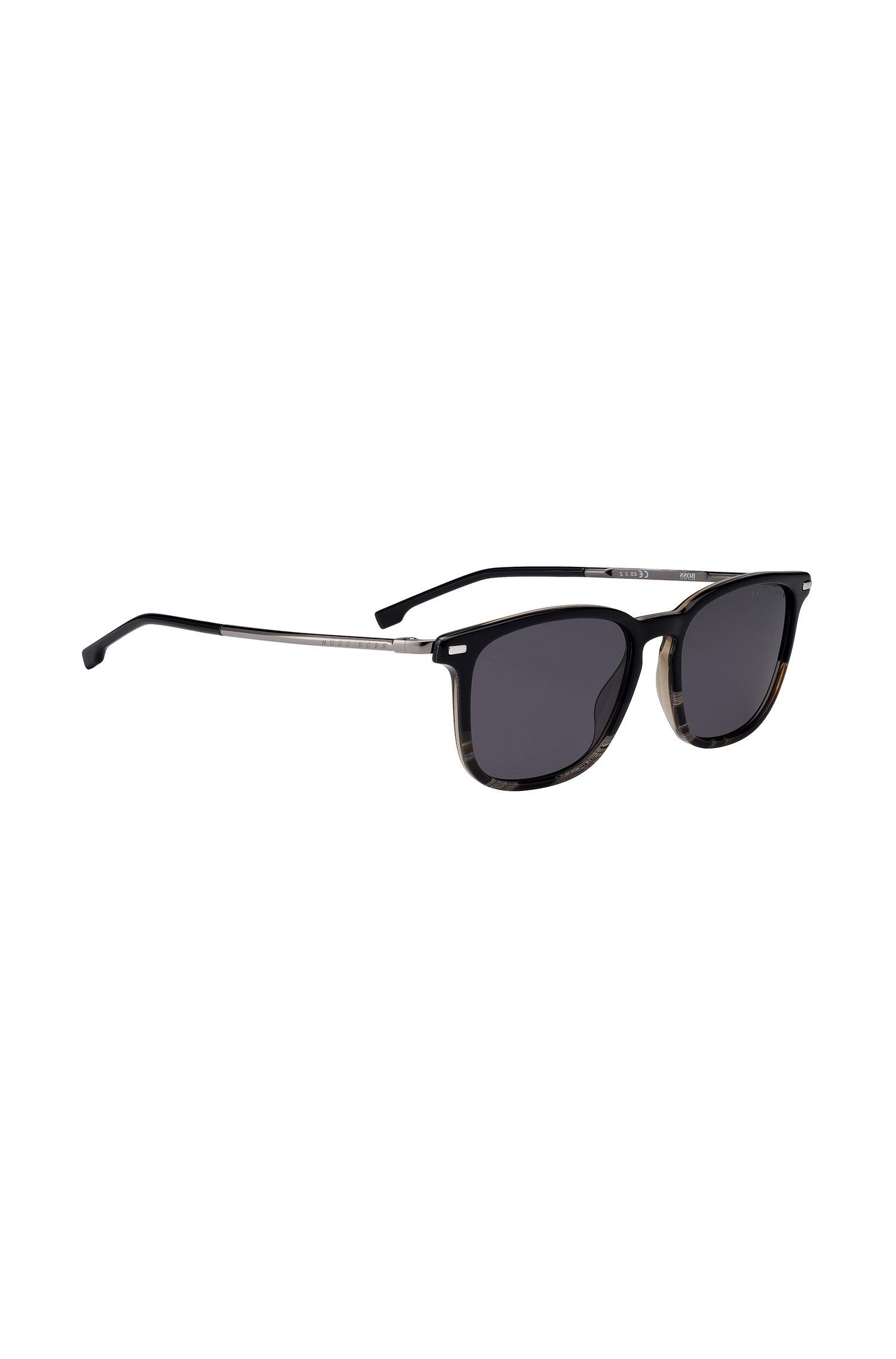 521a59caf27 Lyst - Boss Polarized Sunglasses With Black-and-gray-horn Acetate ...