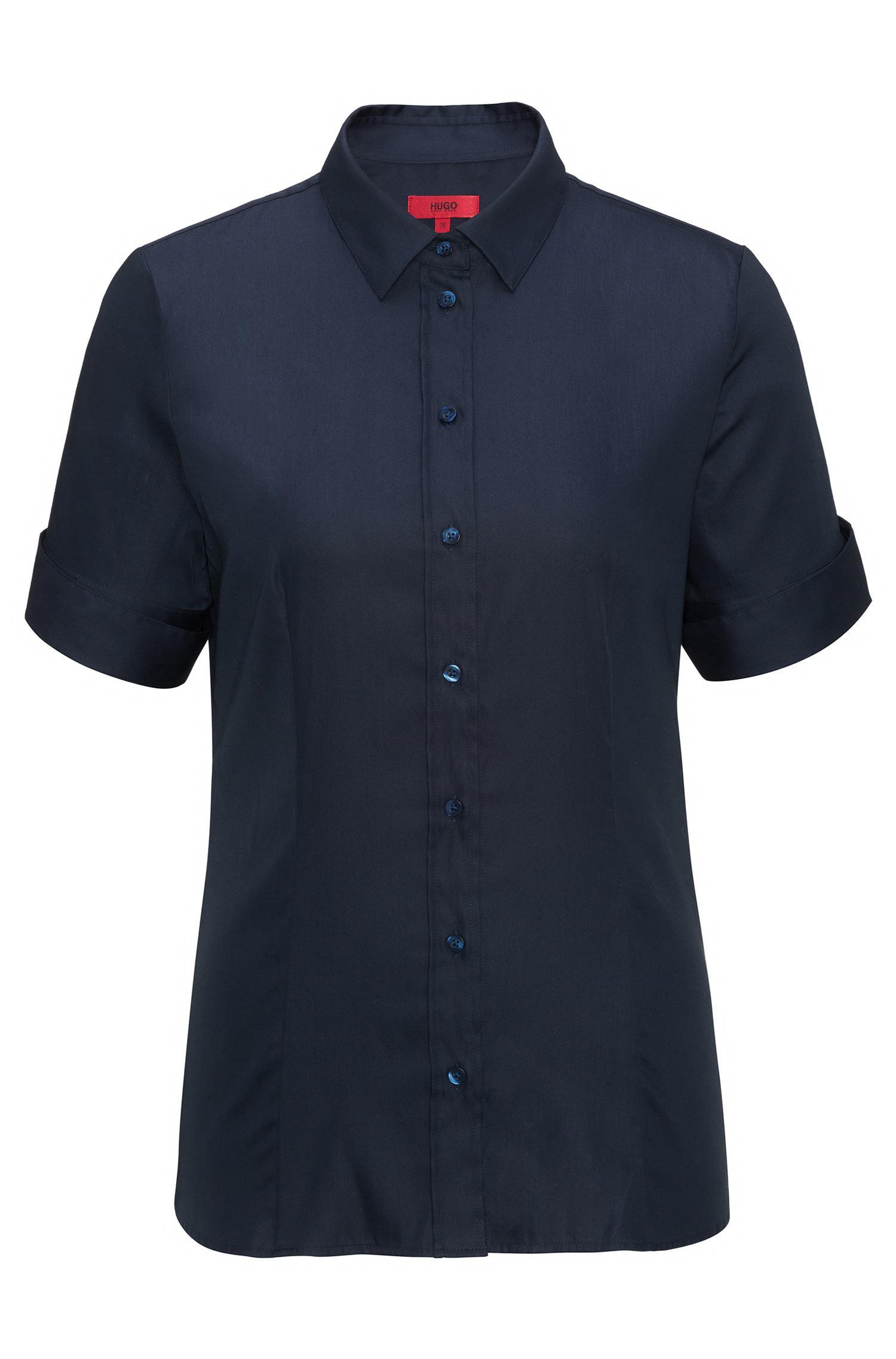 lyst hugo slim fit shirt in a yarn dyed stretch cotton. Black Bedroom Furniture Sets. Home Design Ideas