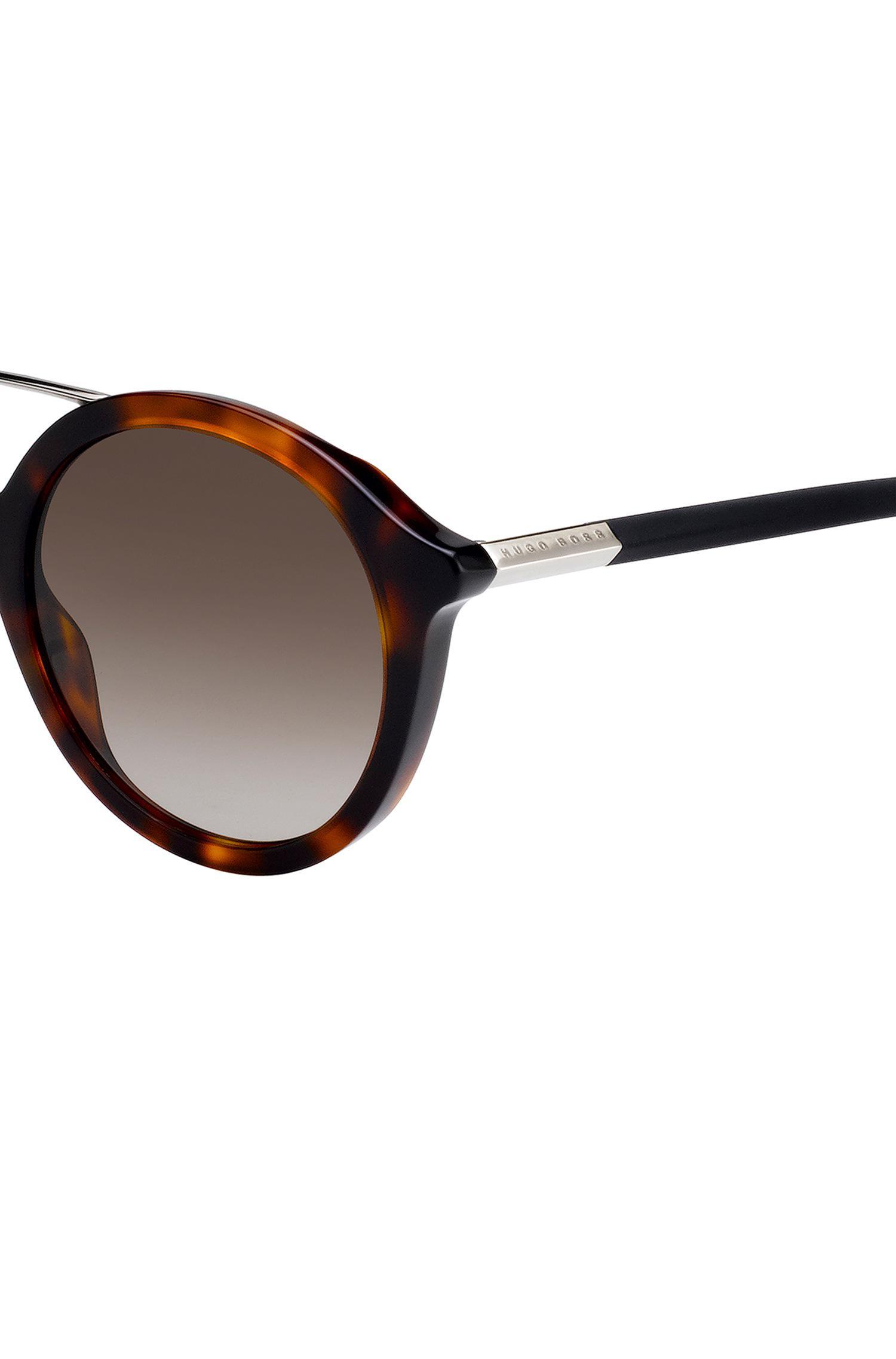 Boss Double-bridge Sunglasses With Havana-pattern Frames in Brown - Lyst