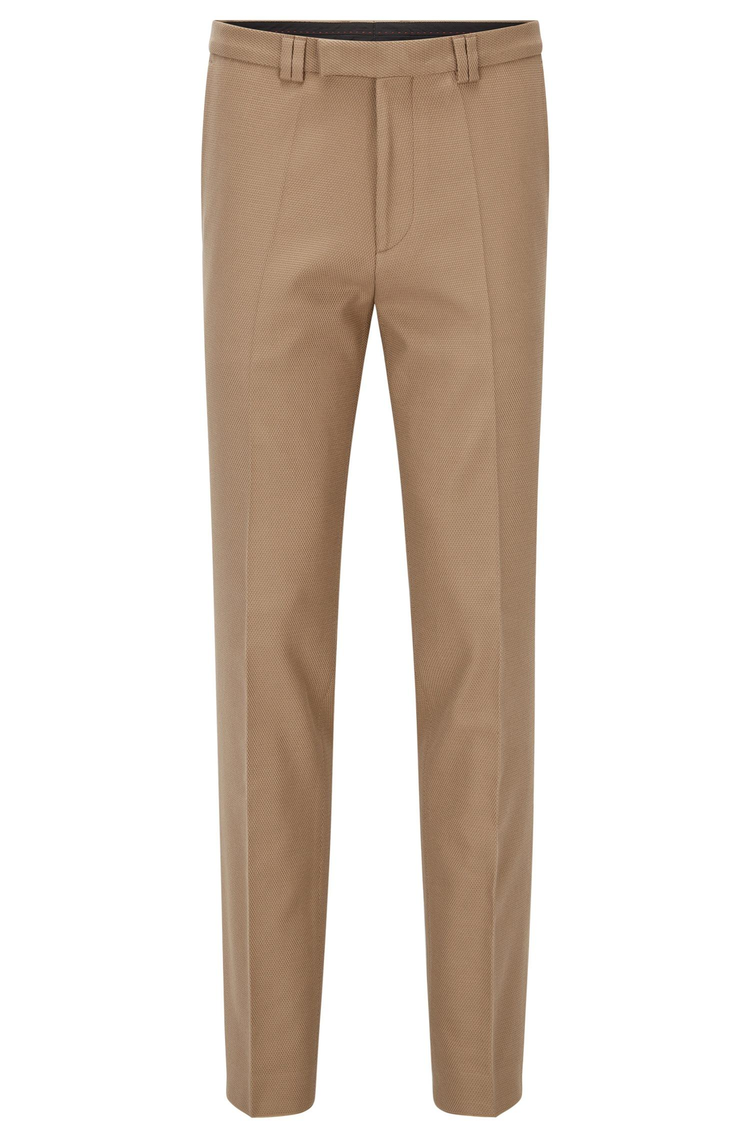 Lyst - Hugo Extra-slim-fit Trousers In Waffle Stretch ...