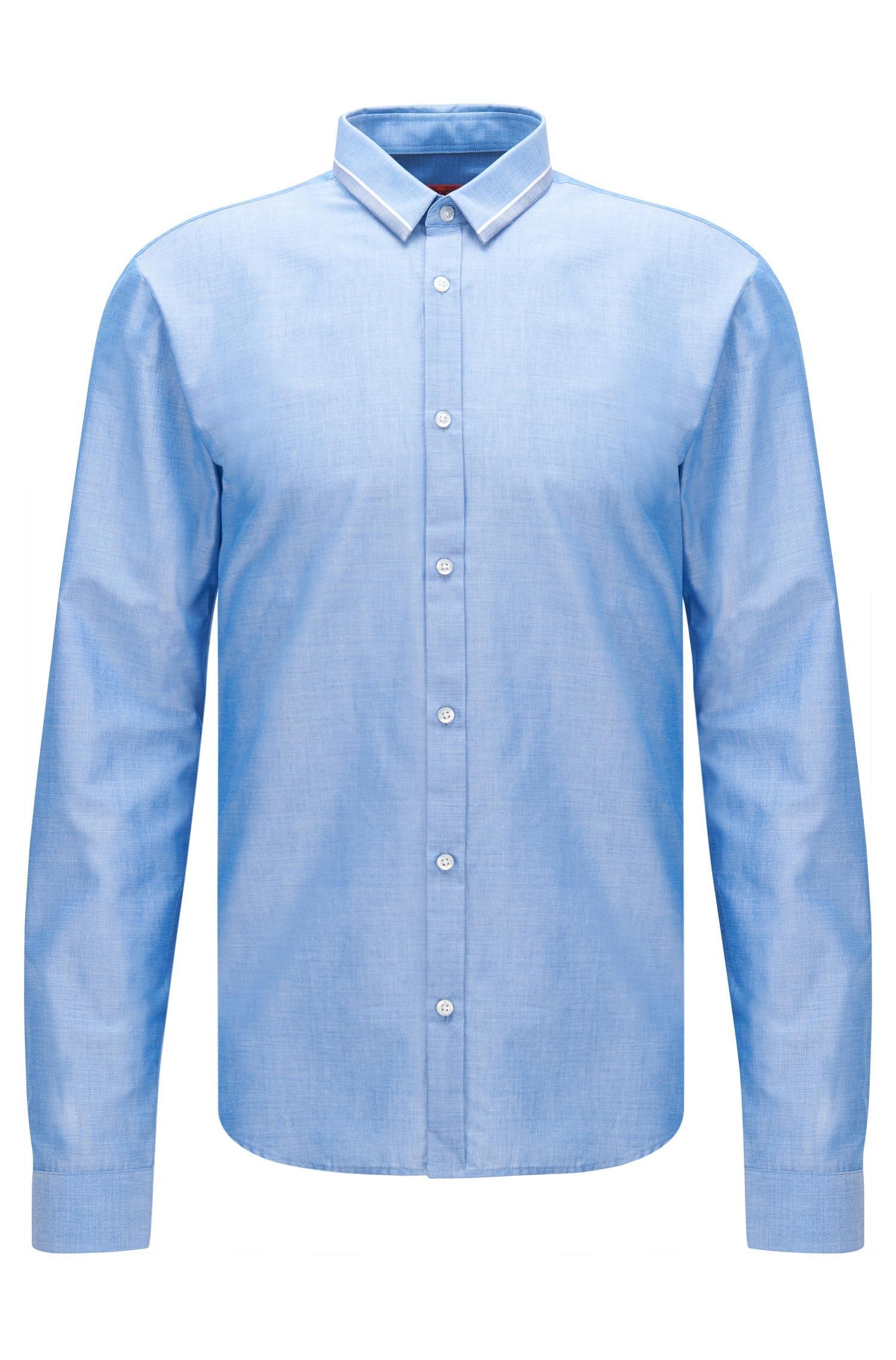 Hugo 39 ero 39 slim fit cotton striped button down shirt in for Striped button down shirts for men