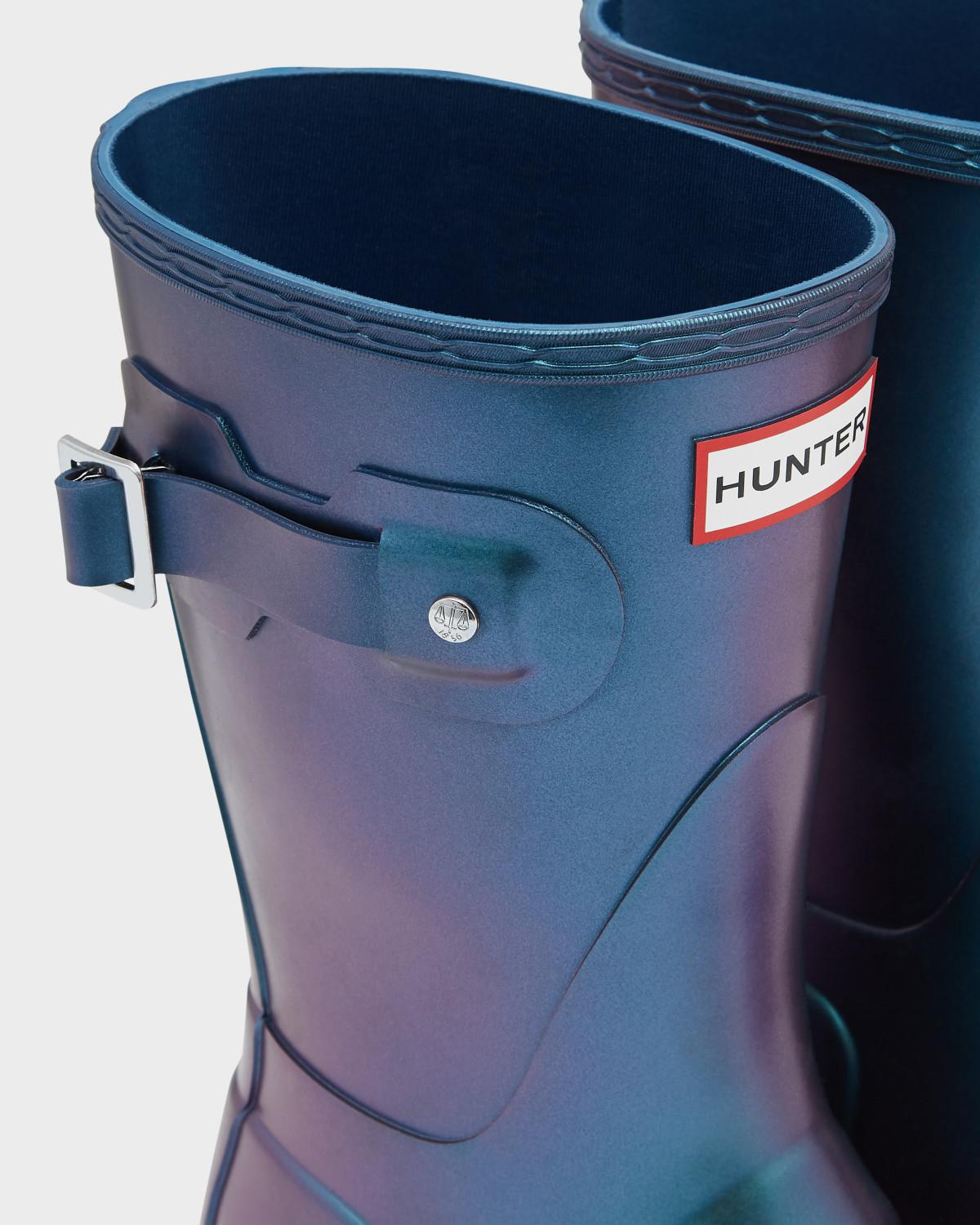 1ef5d5c43f0 Lyst - HUNTER Original Nebula Short Rain Boots in Blue