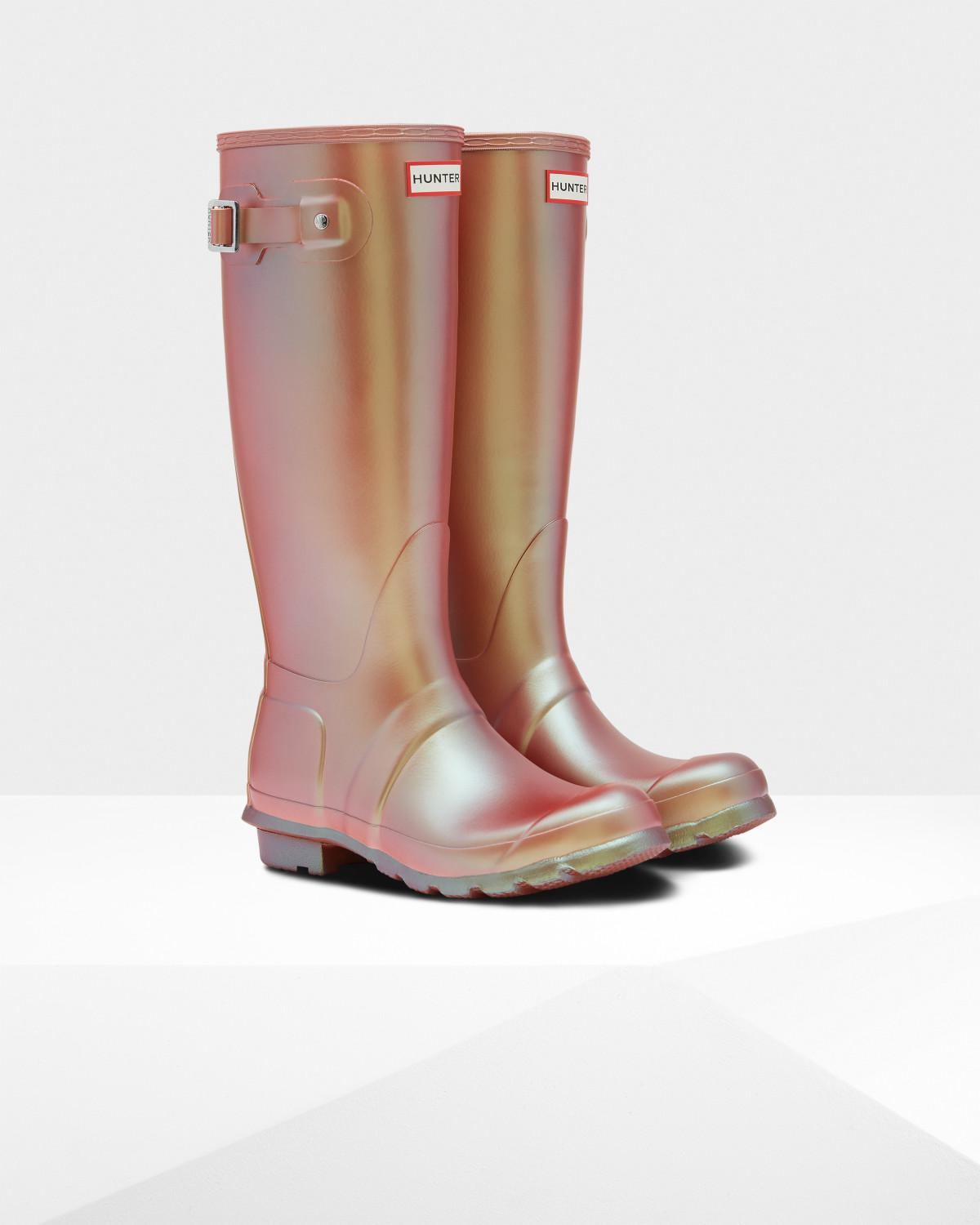 96340590003 Lyst - HUNTER Original Nebula Tall Wellington Boots