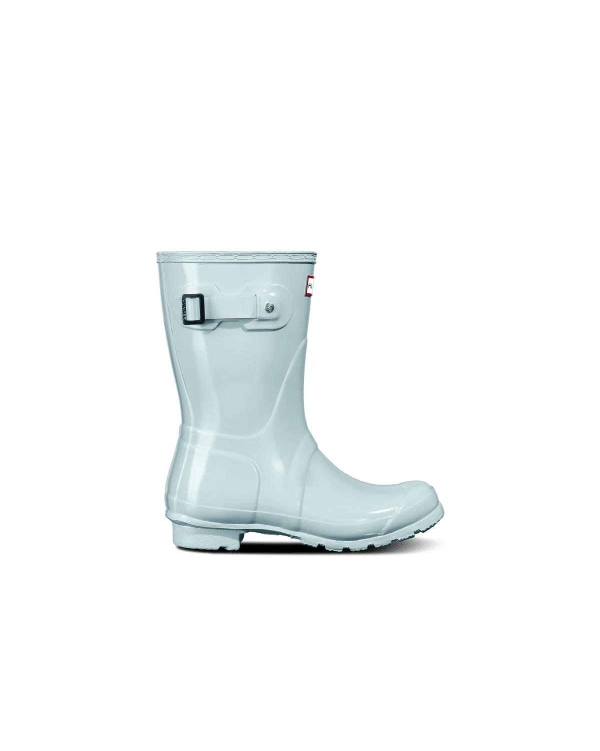09dd814e181 Lyst - HUNTER Original Short Gloss Rain Boots in Blue