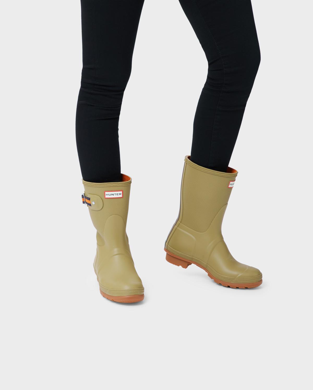 ffe14521b HUNTER Original Sissinghurst Short Rain Boots in Green - Lyst