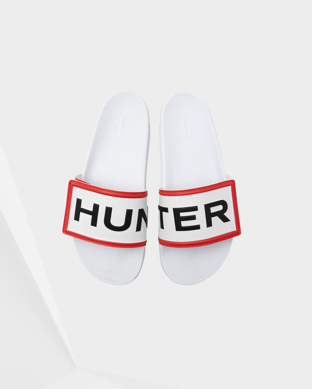 a9d9b7c57 Hunter - White Original Adjustable Logo Sliders - Lyst. View fullscreen