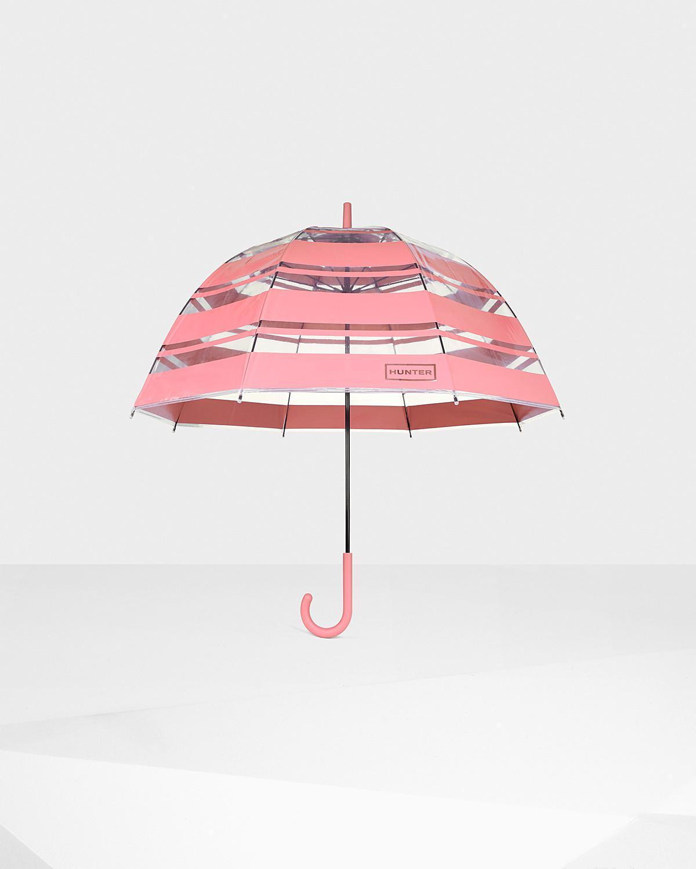 Hunter | Pink Original Stripe Print Bubble Umbrella | Lyst. View Fullscreen
