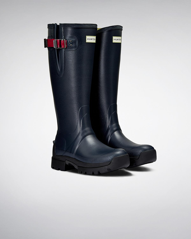 Hunter Women's Balmoral Side Adjustable 3mm Neoprene Rain Boots 1C6Vm