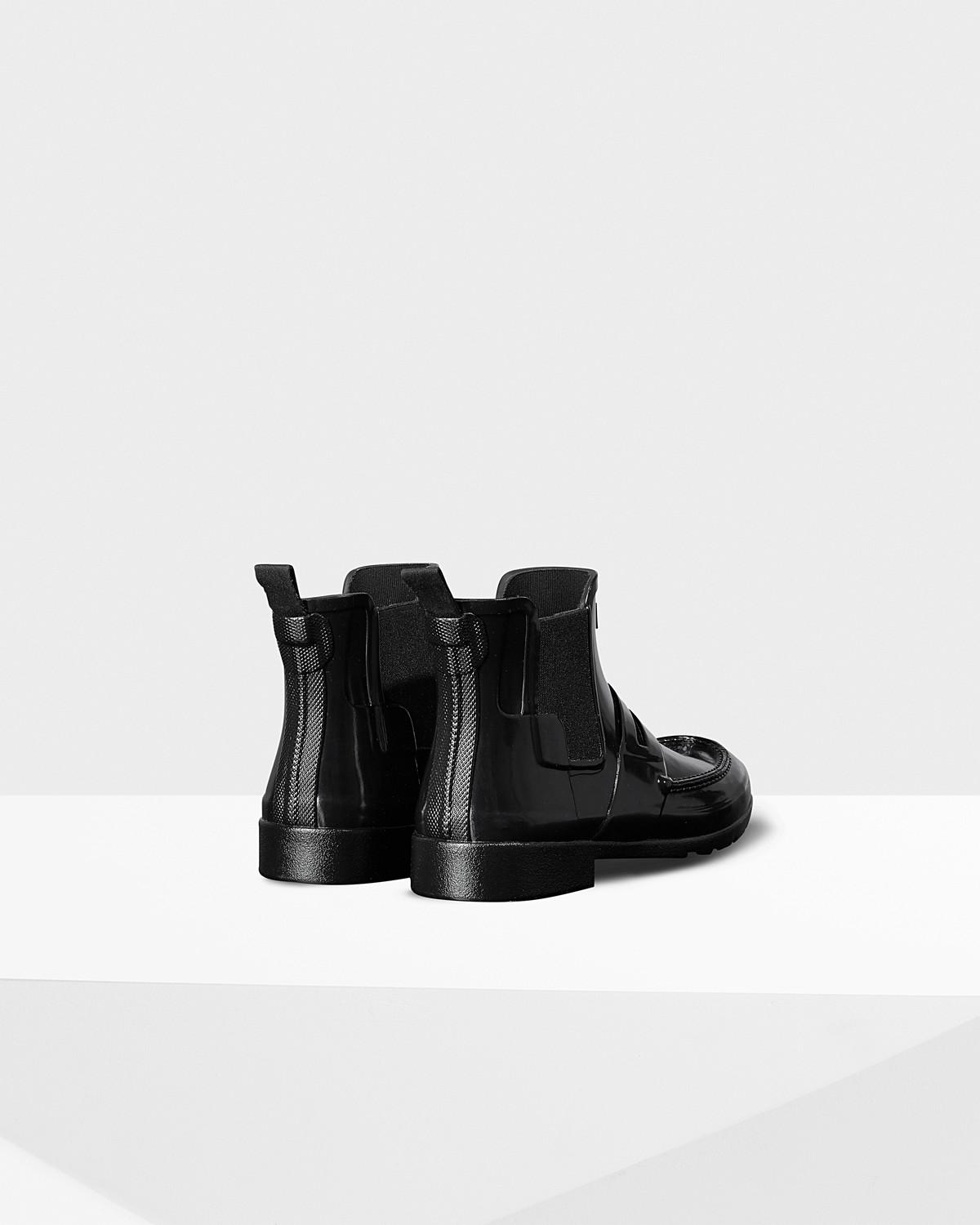 1d01a34a5a2 Lyst - HUNTER Women s Original Refined Penny Loafer Chelsea Boots in ...