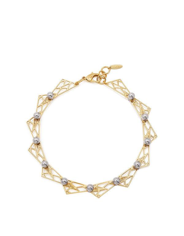 Joomi Lim SPHERES WITH HINGED TRIANGLE NECKLACE Gold/rhodium kXr46m