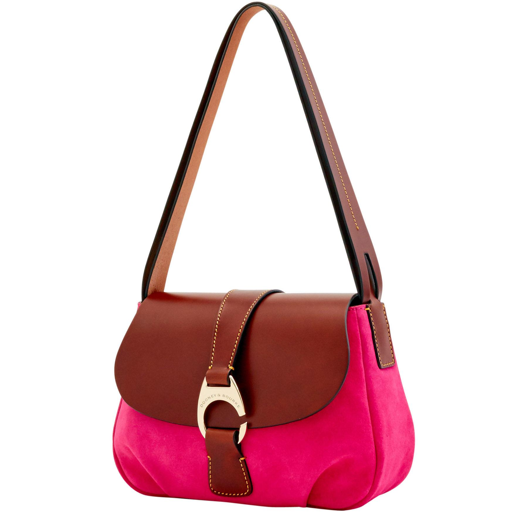 Lyst - Dooney   Bourke Derby Suede Large Flap in Pink - Save 60% 74a041e390bbc