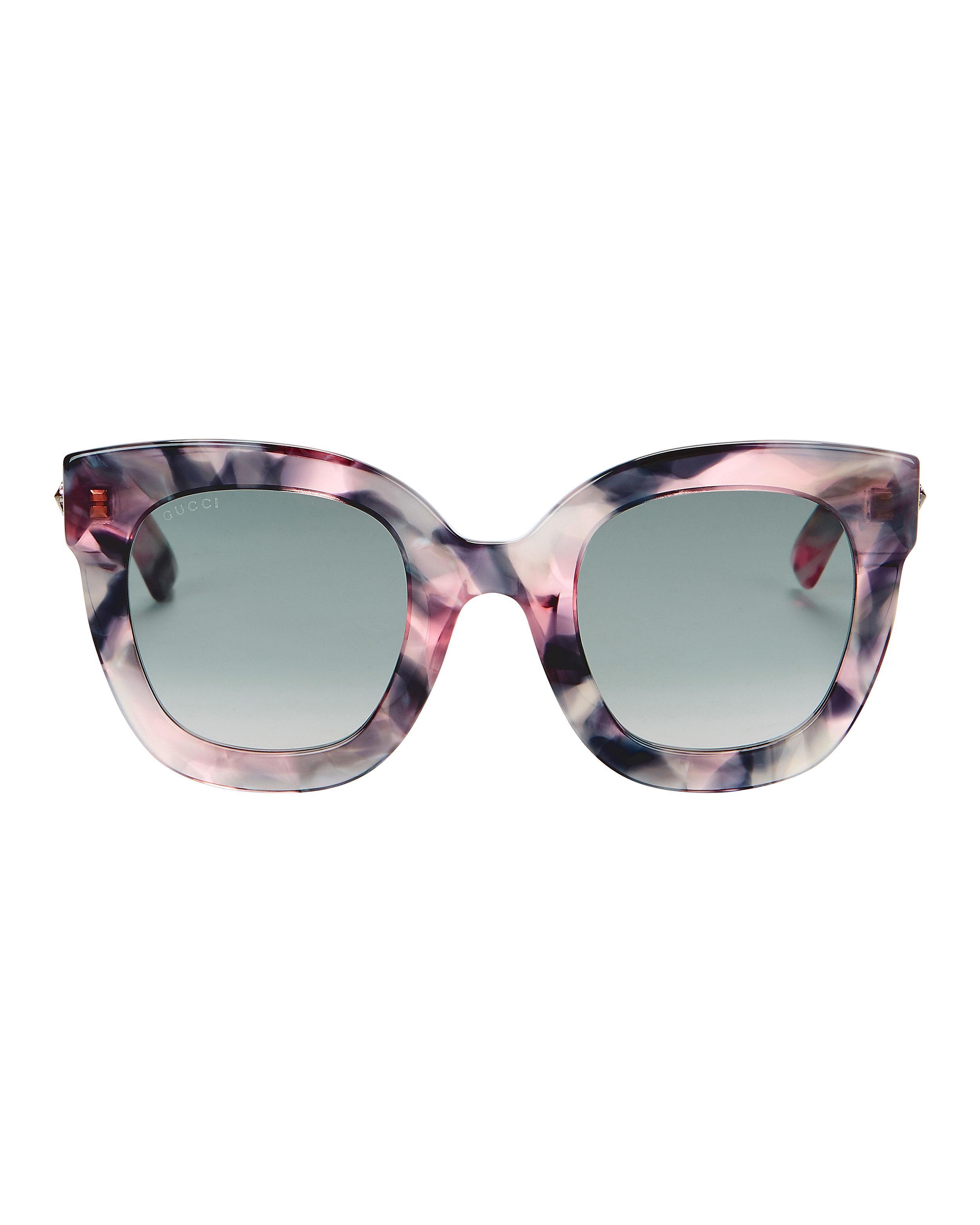 ac2fba80458 Gucci - Multicolor Oversized Marble Acetate Sunglasses - Lyst. View  fullscreen