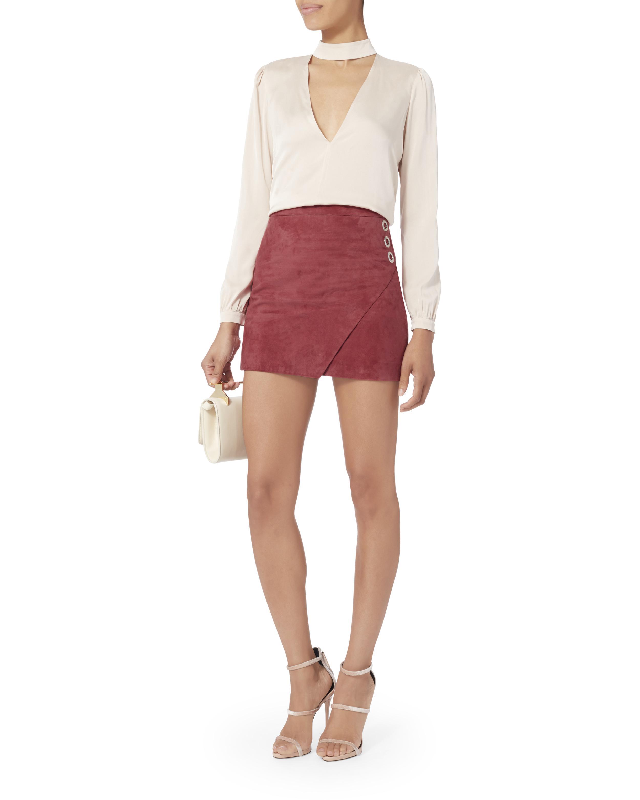 Michelle Mason Velvet-Paneled Silk Skirt w/ Tags Cheap Websites Free Shipping Explore 9Y0KwBj70m