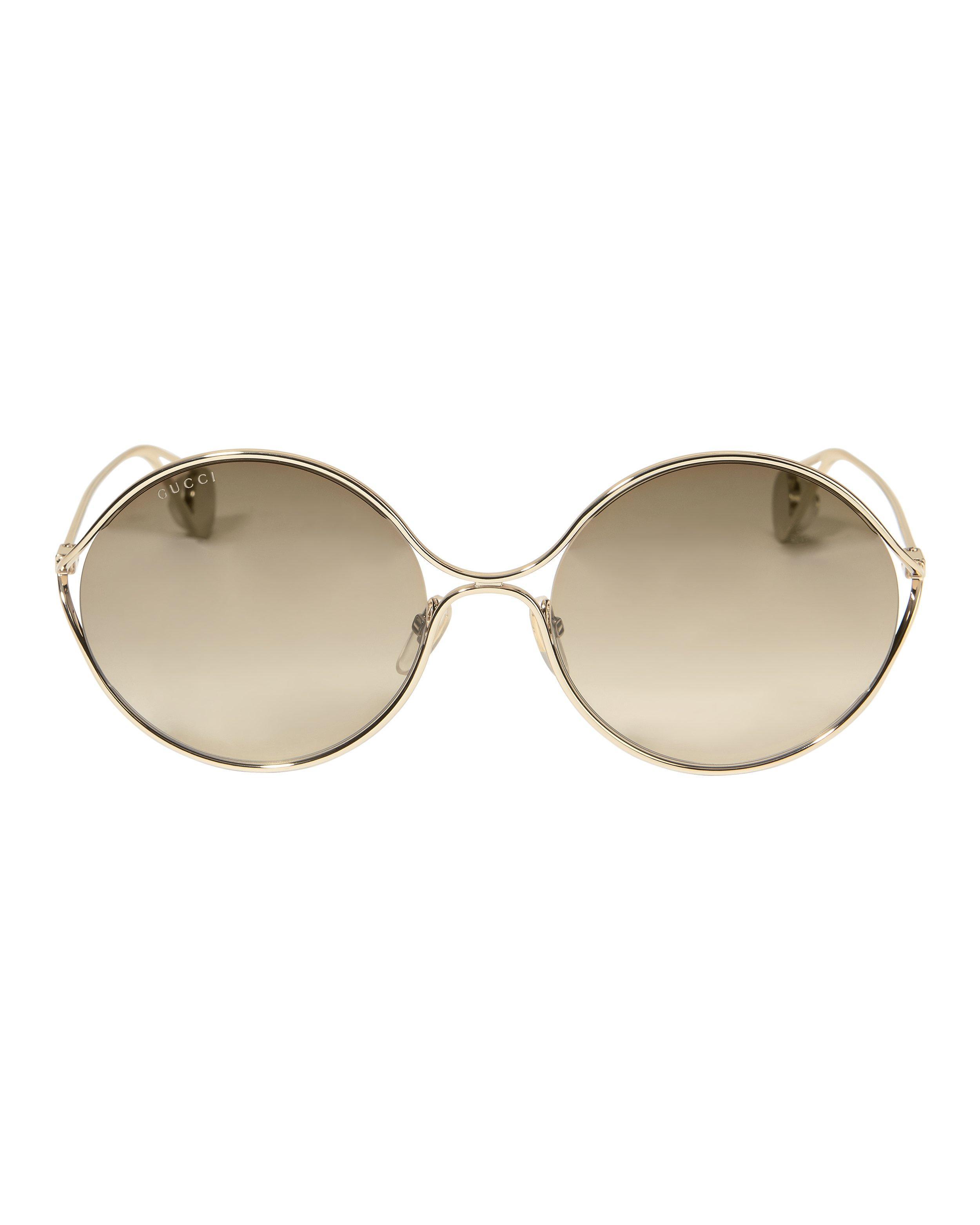 202f1166d00 Gucci - Metallic Oval Metal Sunglasses - Lyst. View fullscreen