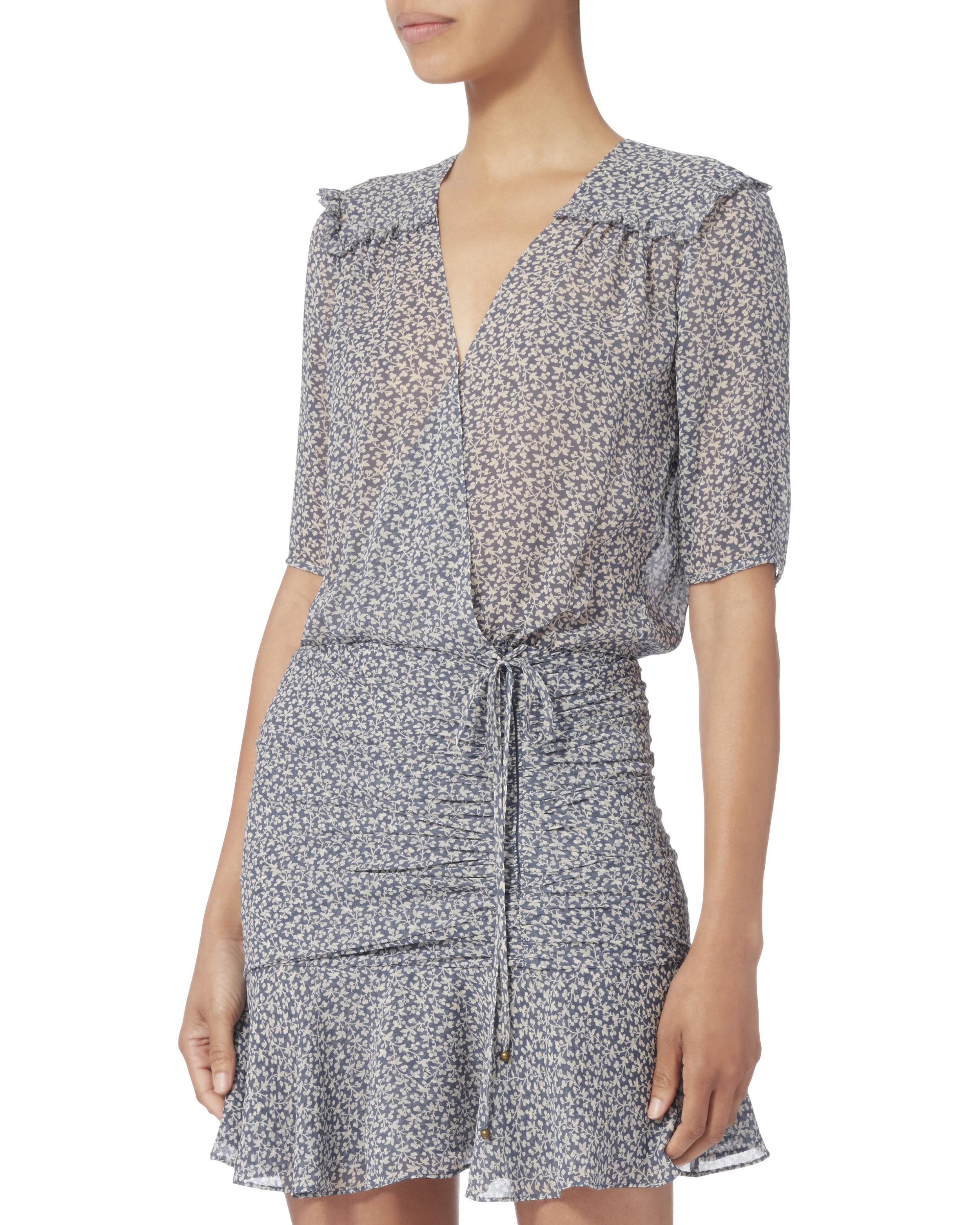 7376e769927 Veronica Beard Dakota Printed Flounce Dress in Gray - Lyst