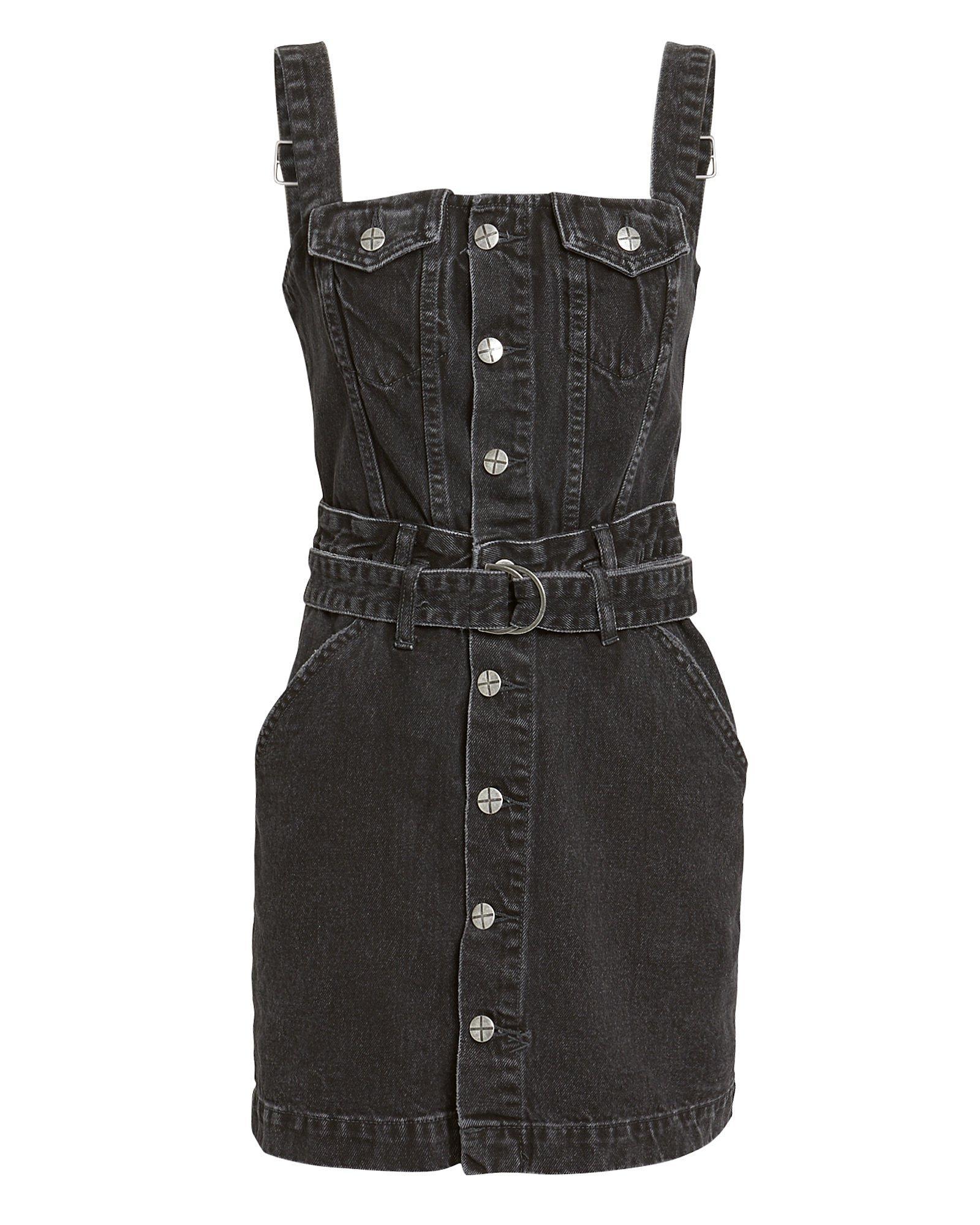 4298295d7e9 Ksubi Deejay Denim Mini Dress in Black - Save 2% - Lyst