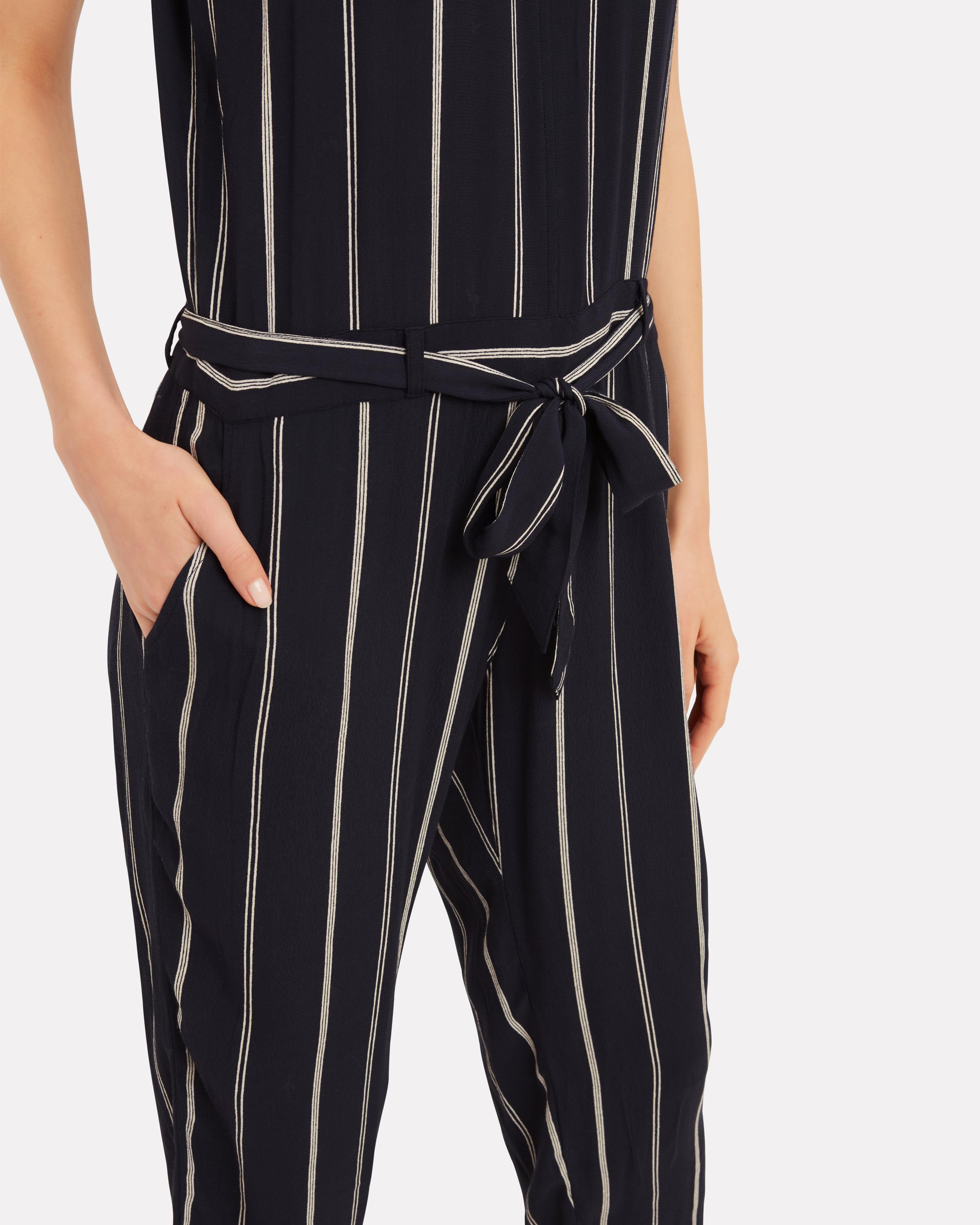 eb277e47a57 Lyst - Rails Hallie Striped Jumpsuit in Black