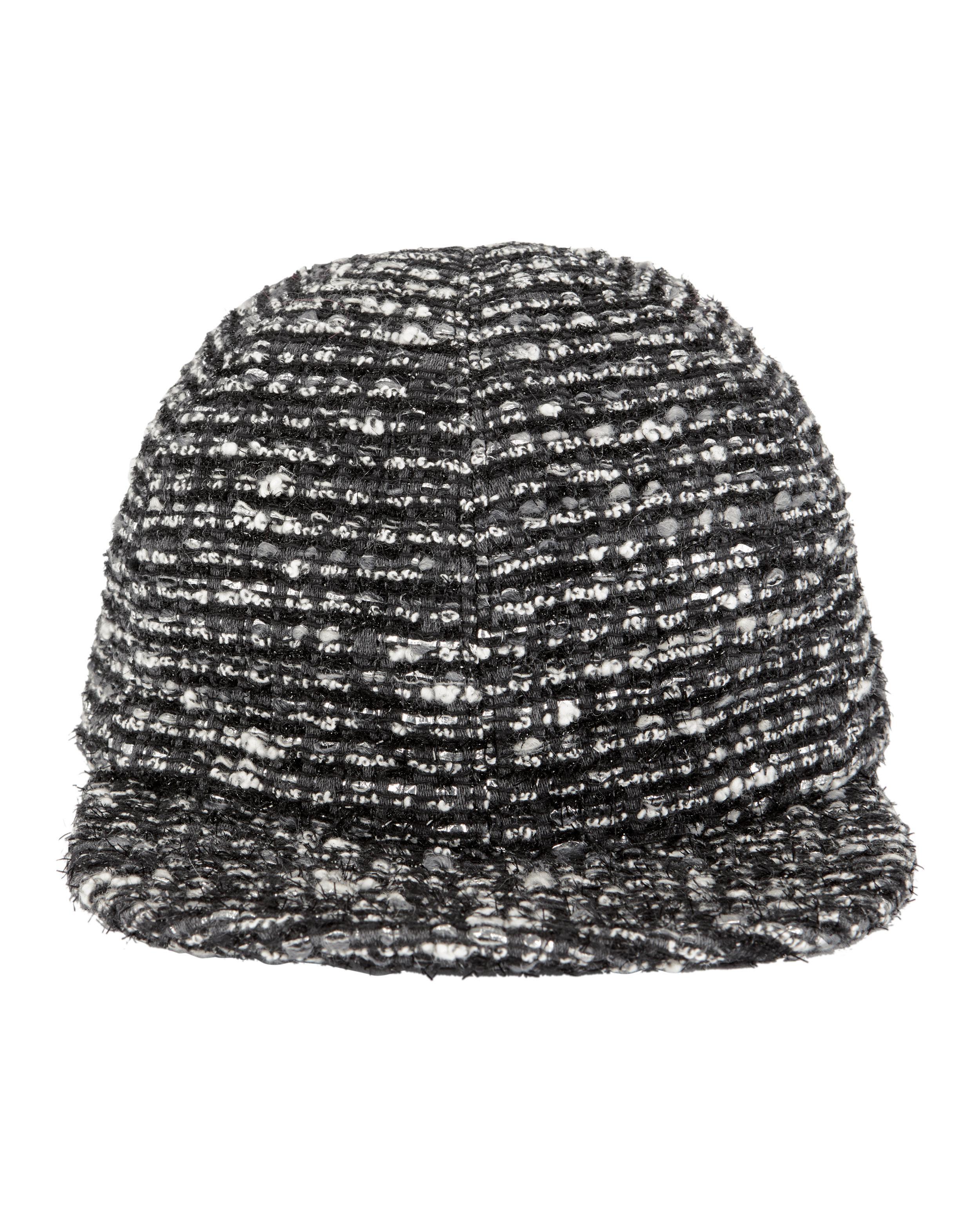 Darien Metallic Cotton-blend Tweed Baseball Cap - Black Eugenia Kim 3I20fQ6