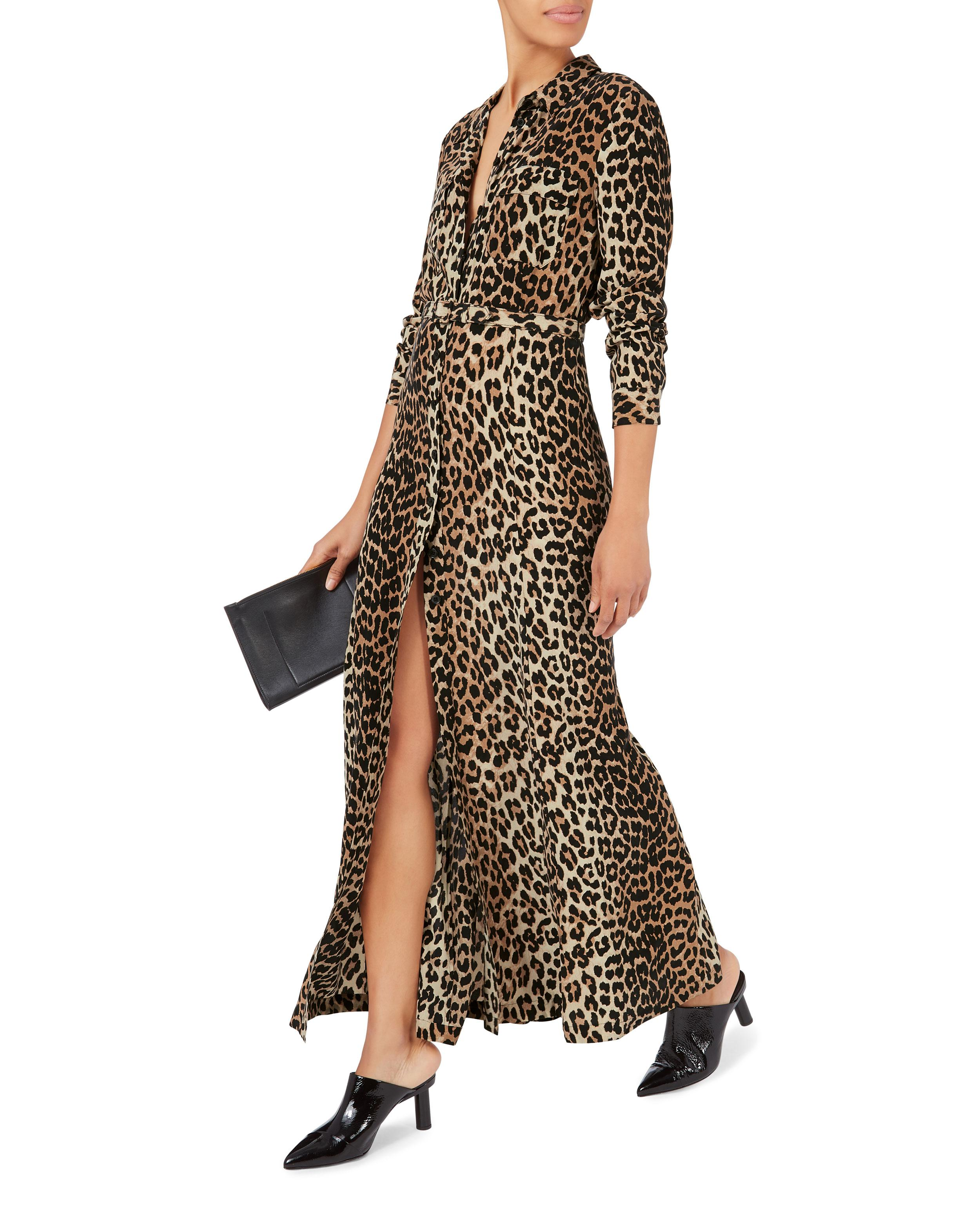 d53c5965 Ganni Fayette Animal Print Belted Dress - Lyst