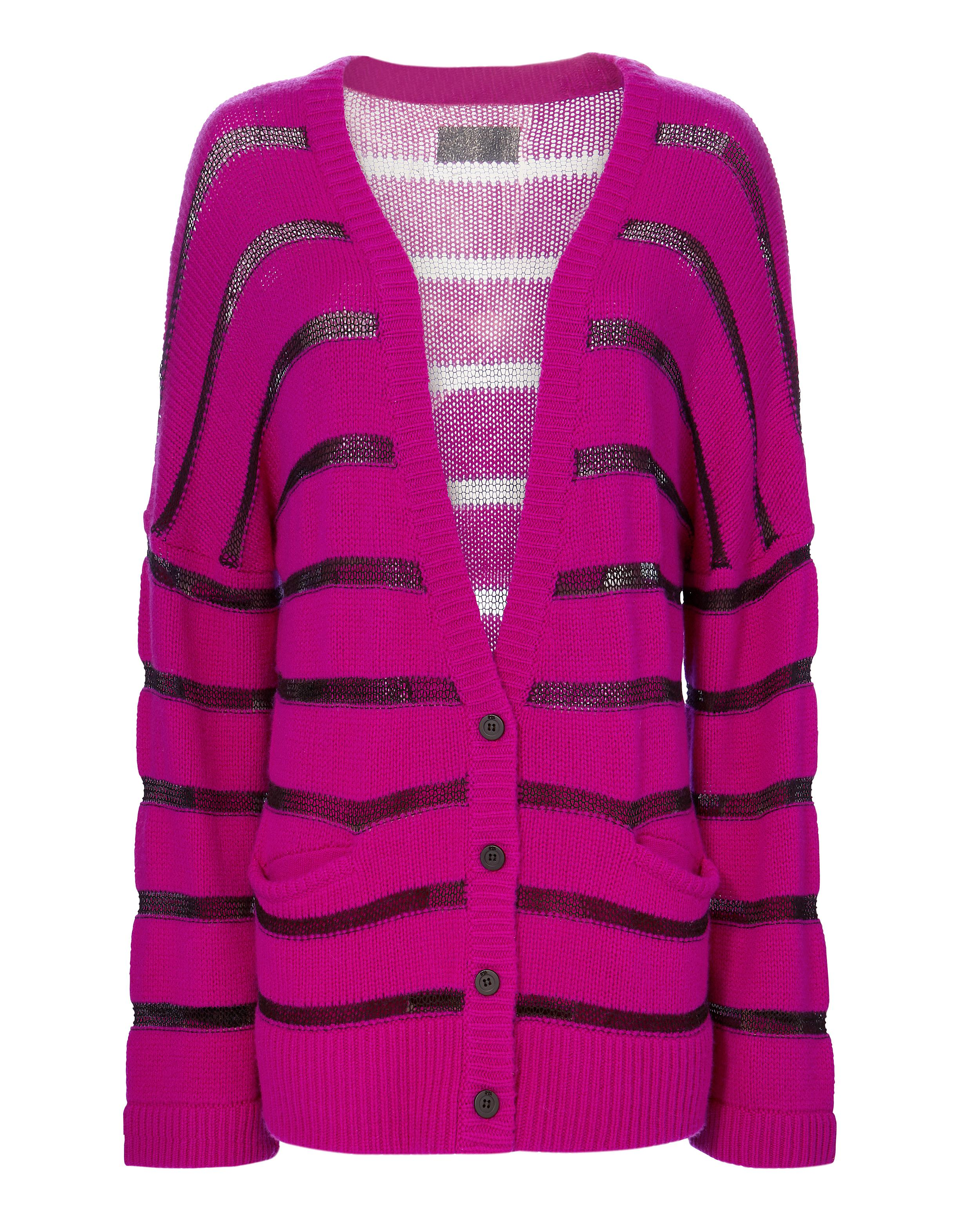 Outlet Footlocker striped knitted cardigan - Pink & Purple Rta Good Selling Cheap Purchase Discount Cheap F8CcW7vE