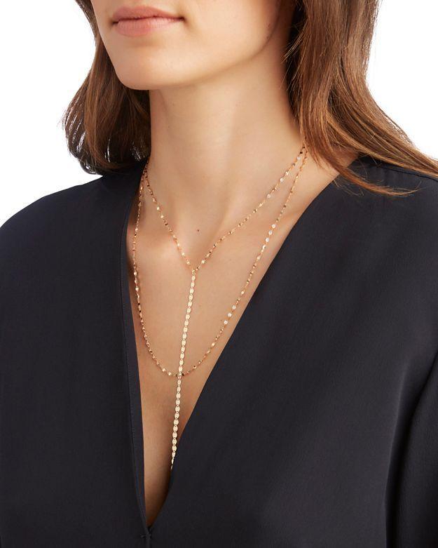 Lana Jewelry Nude Blake Chain Drop Necklace OA7IS