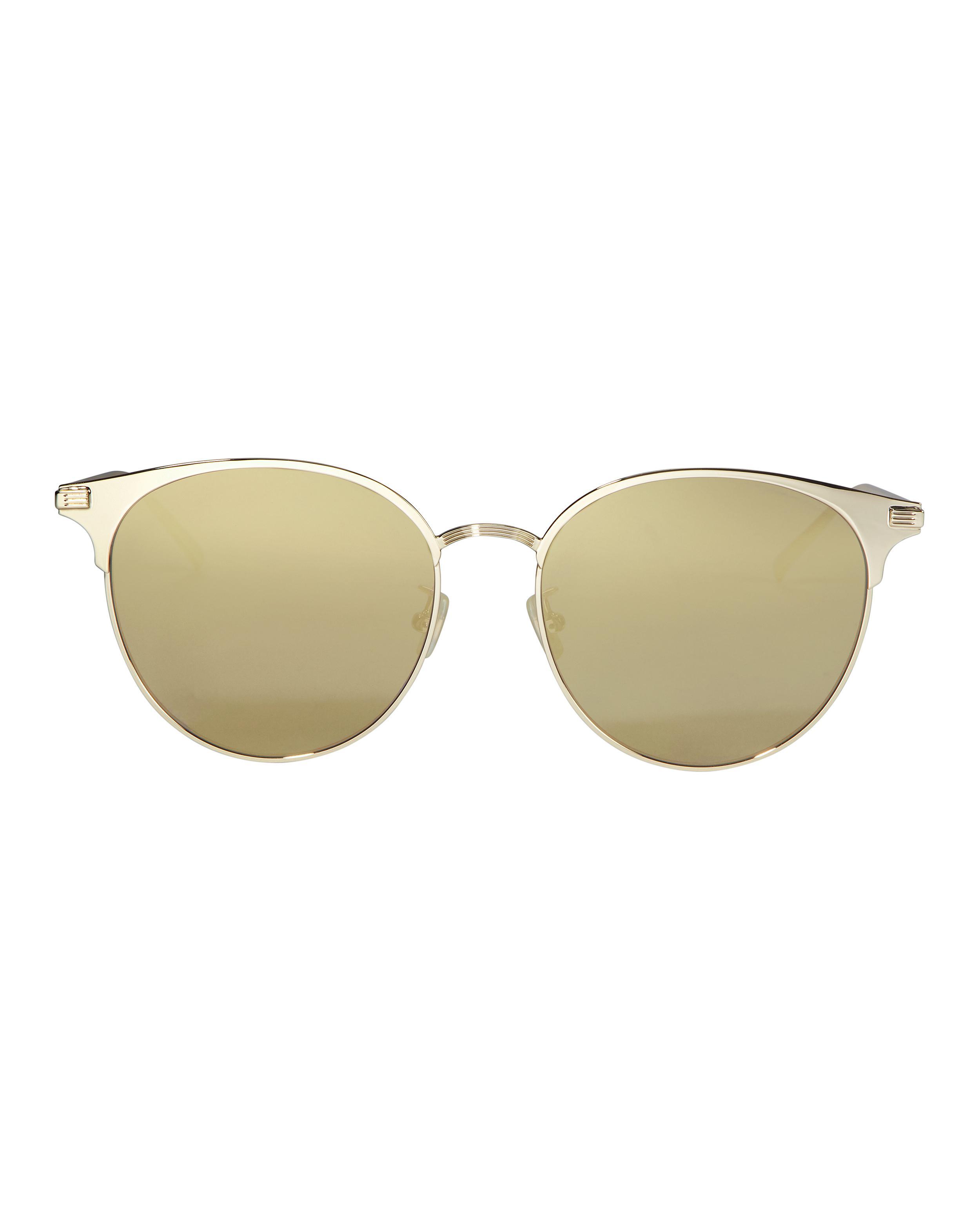 e06a8f2872 Lyst - Saint Laurent Metal Round Sunglasses in Metallic