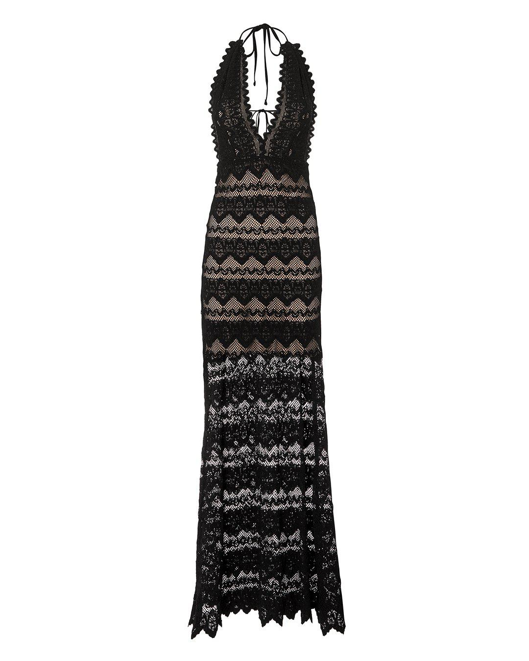 a76d8ad8116 Lyst - Nightcap Lima Lace Maxi Dress in Black