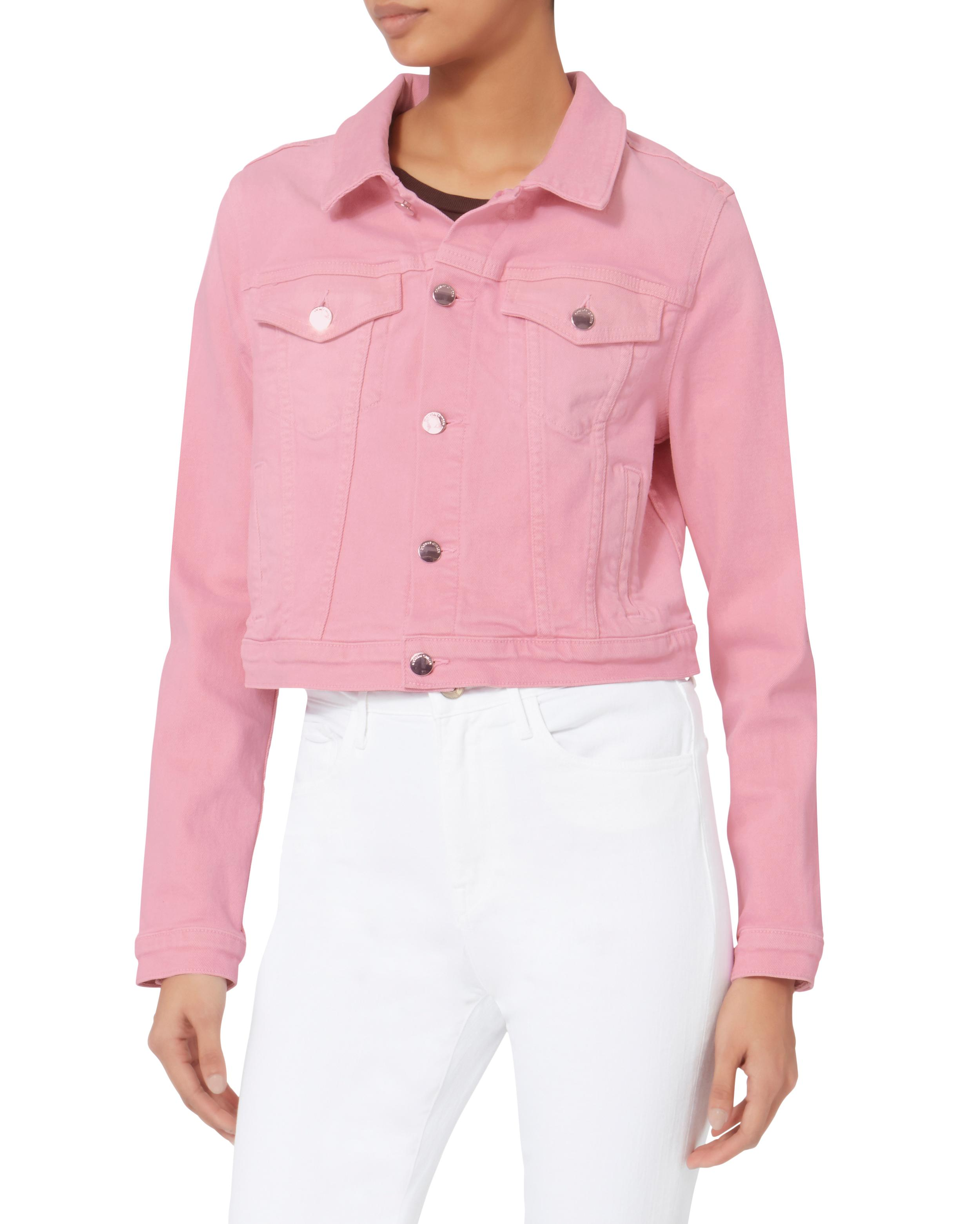 21bc33f5f2bfe7 Lyst - Cotton Citizen Pink Cropped Jean Jacket in Pink