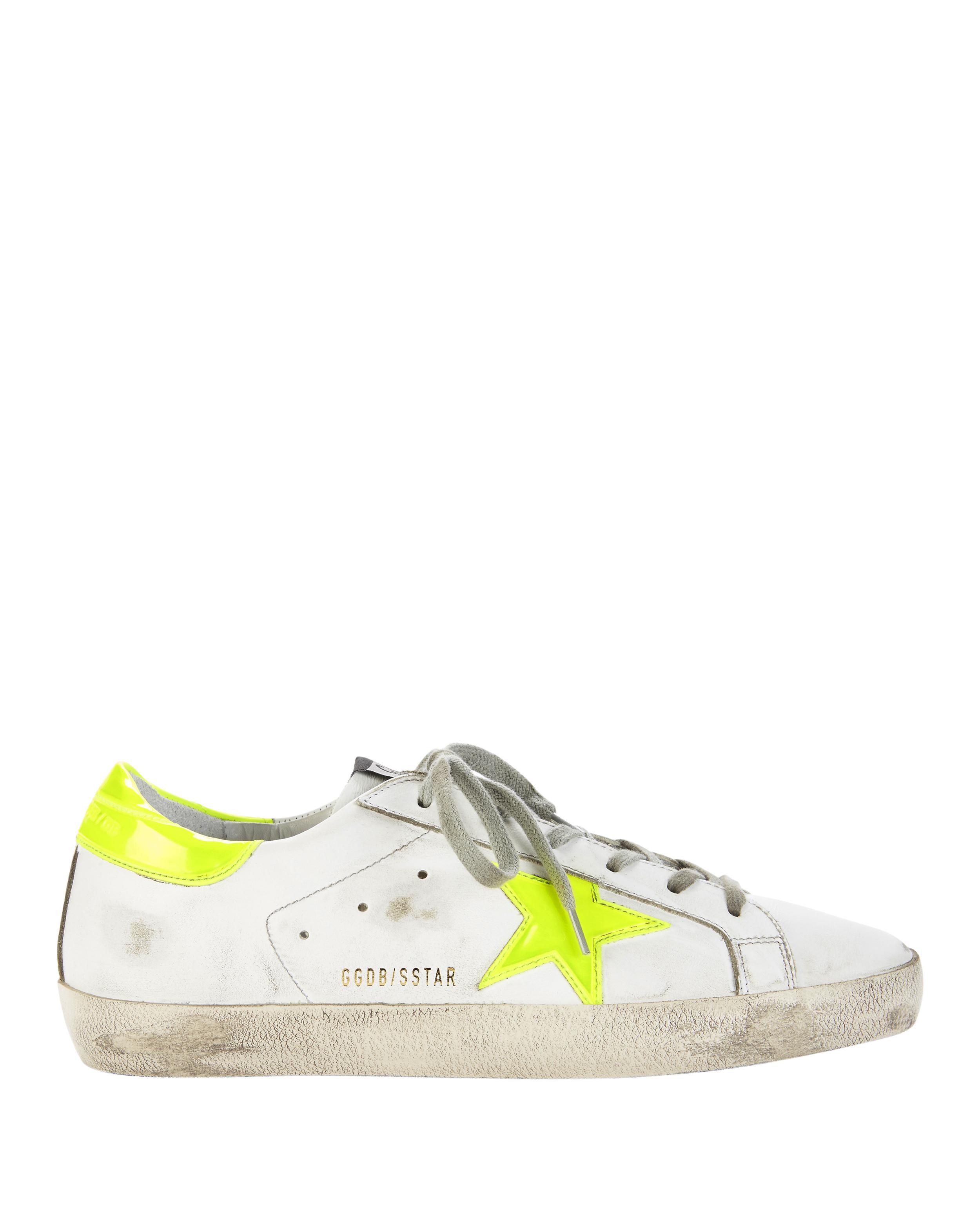 White Neon Yellow Superstar sneakers Golden Goose hbPI9sZG2