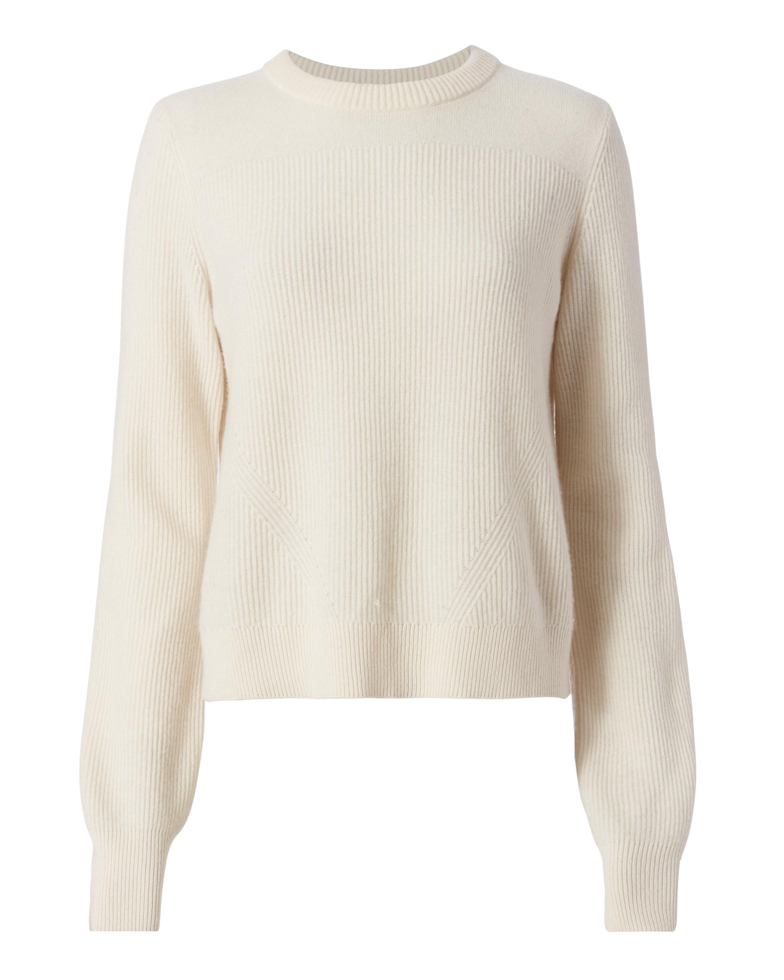Rag & bone Ace Cropped Sweater in White | Lyst