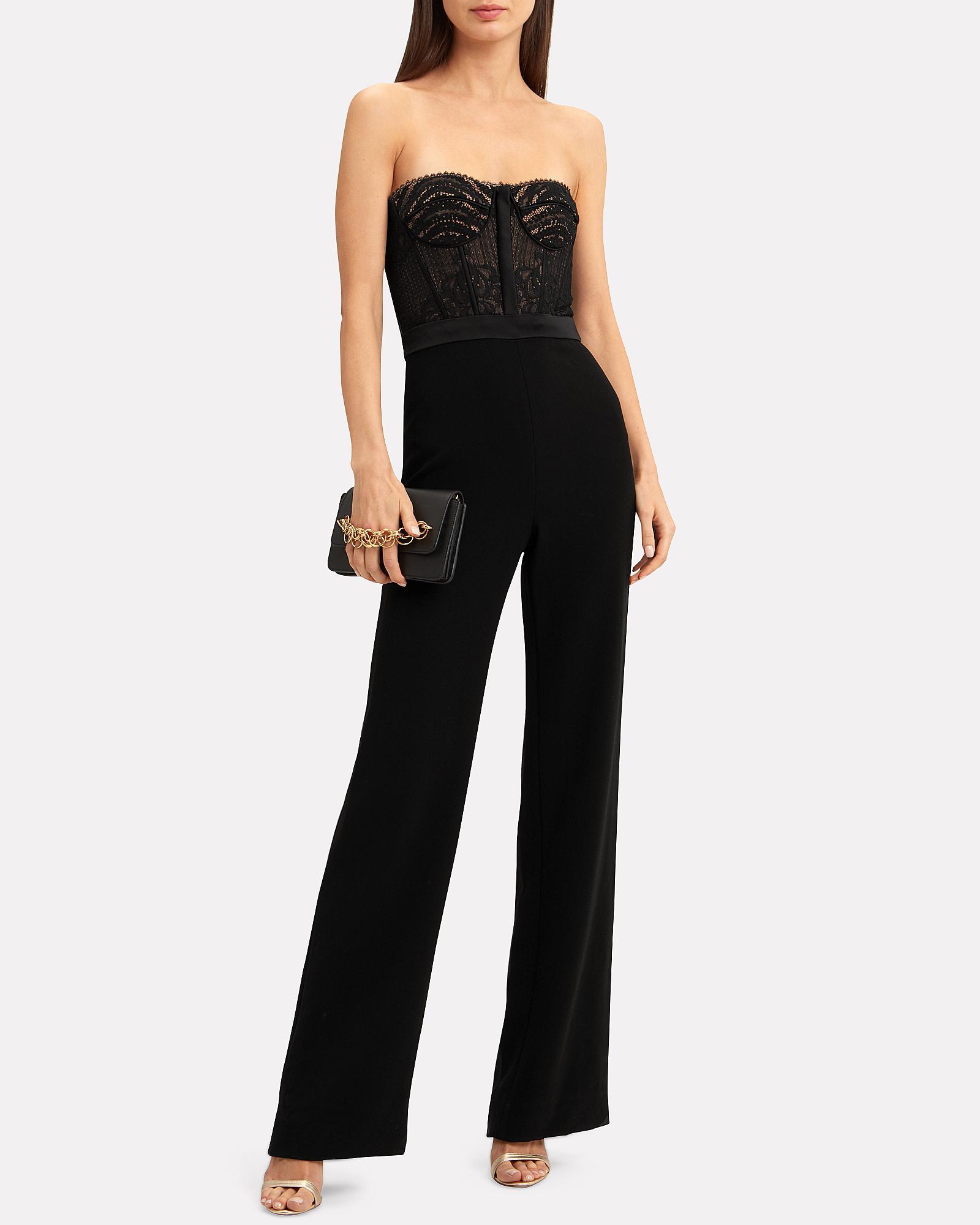 cc4eec770299 Jonathan Simkhai - Black Bustier Lace Jumpsuit - Lyst. View fullscreen