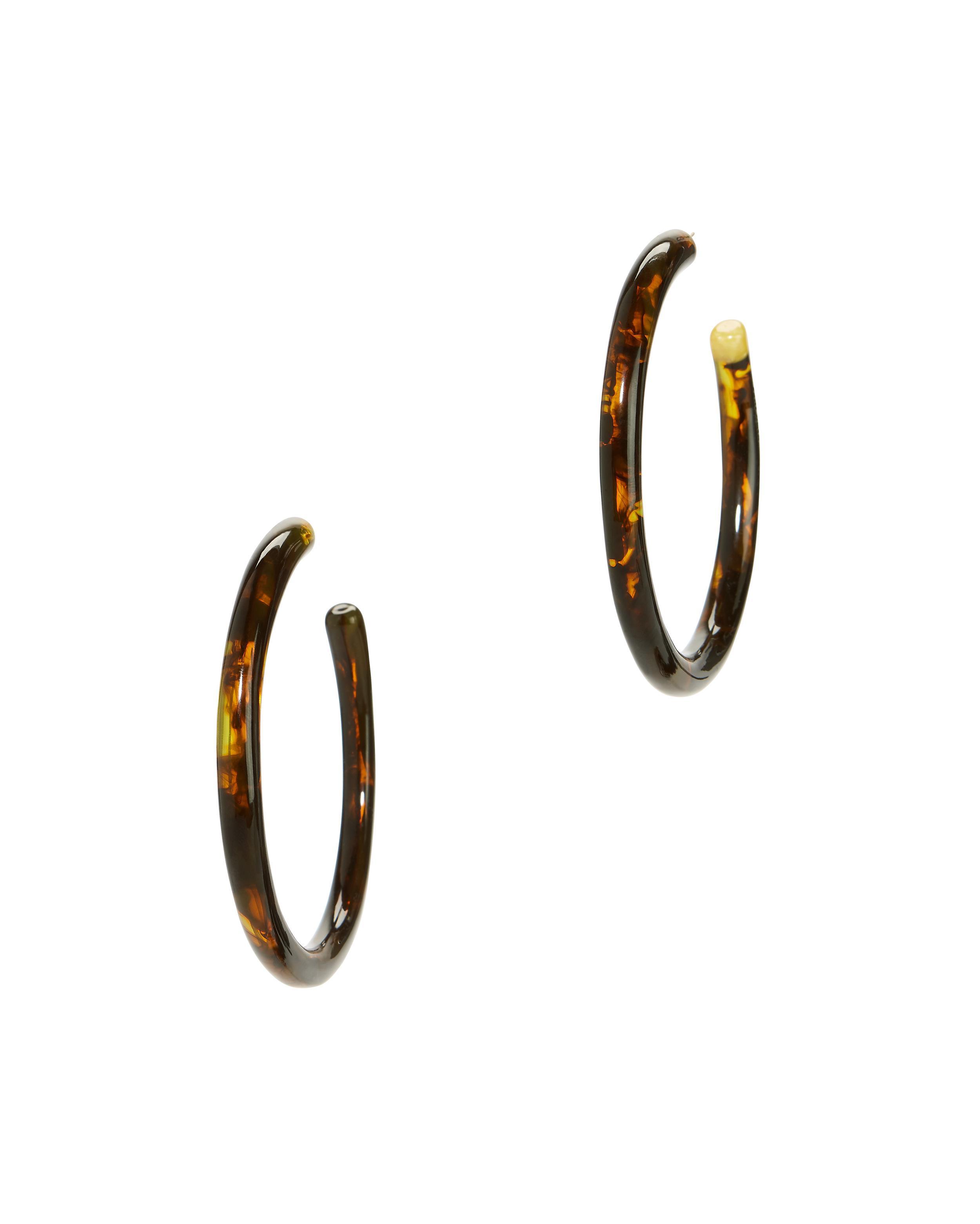 Geneva Tortoise Tubular Hoop Earrings Cult Gaia Qm1LUeyW3