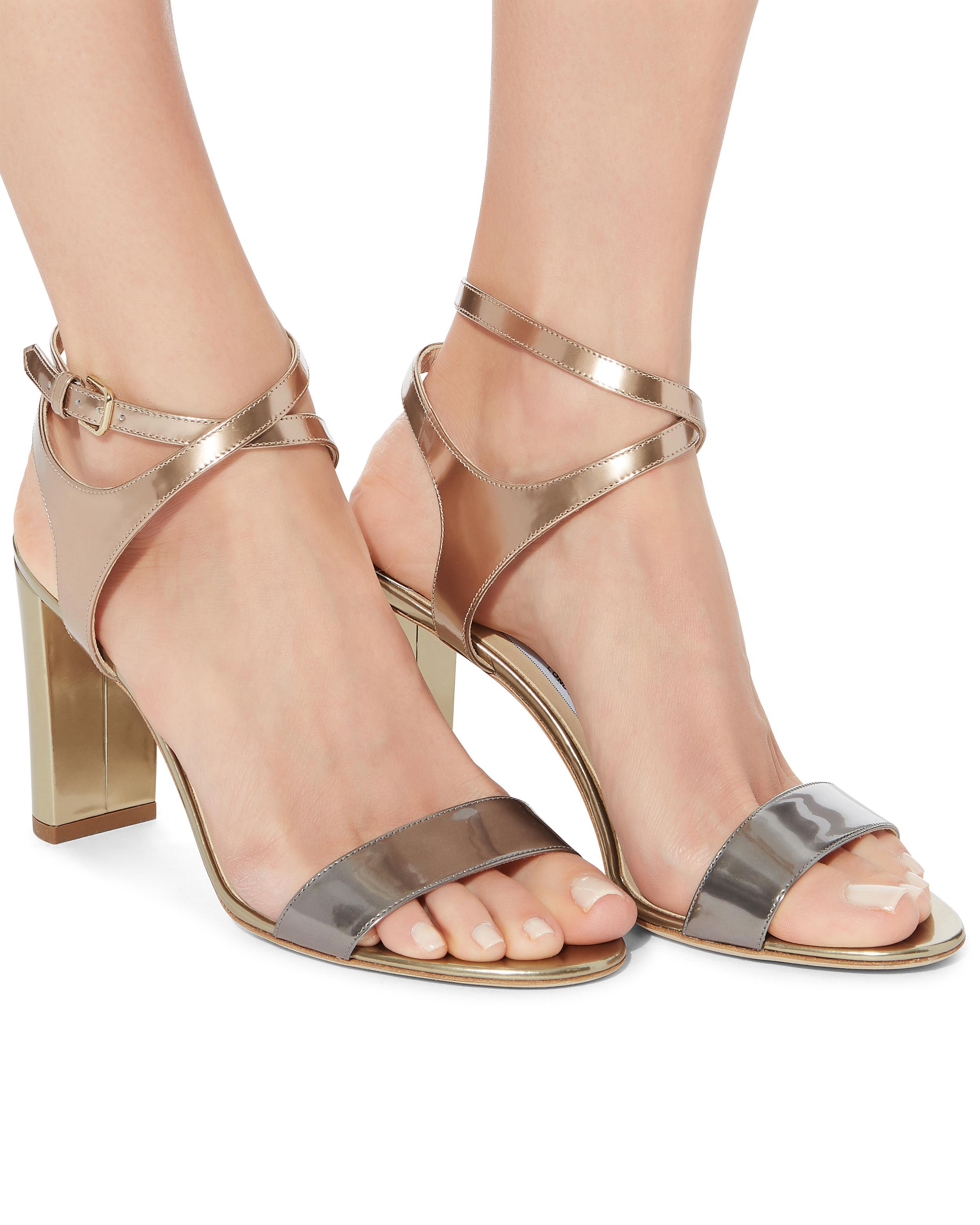 8ad0e4149dc Lyst - Jimmy Choo Marine Metallic High Sandals in Metallic