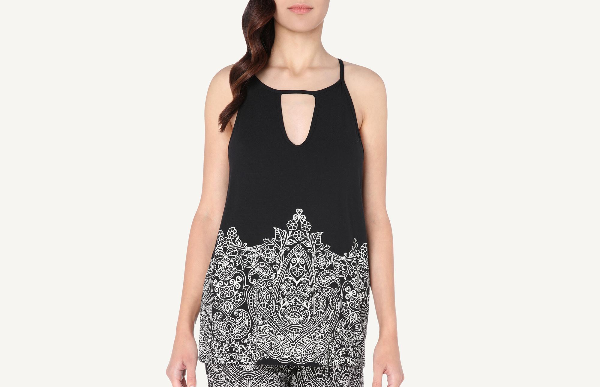 0fb0e35f29 Lyst - Intimissimi Pretty Flowers Print Top in Black