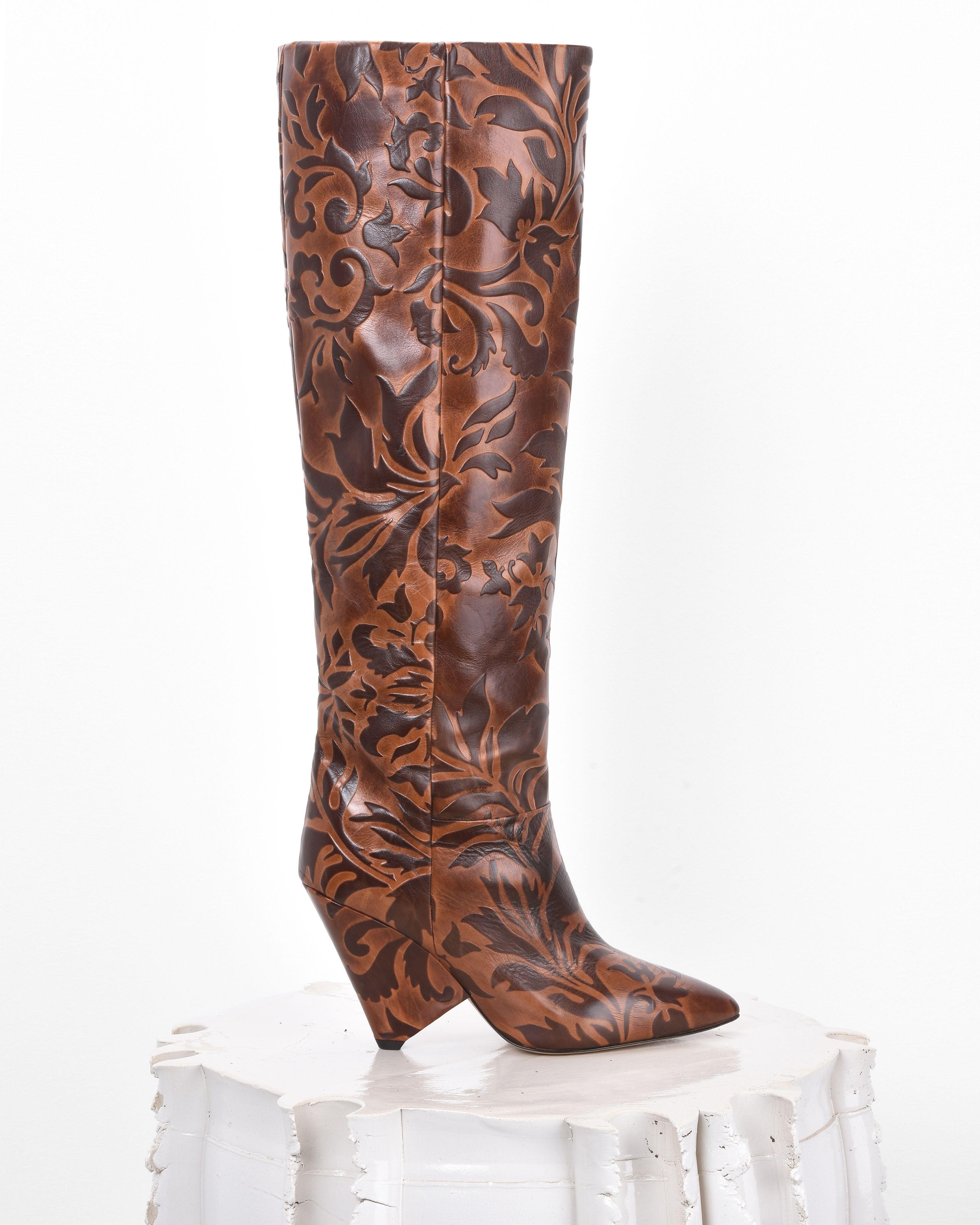 Lokyo Cordoue-effect boots - Brown Isabel Marant FGktMpK