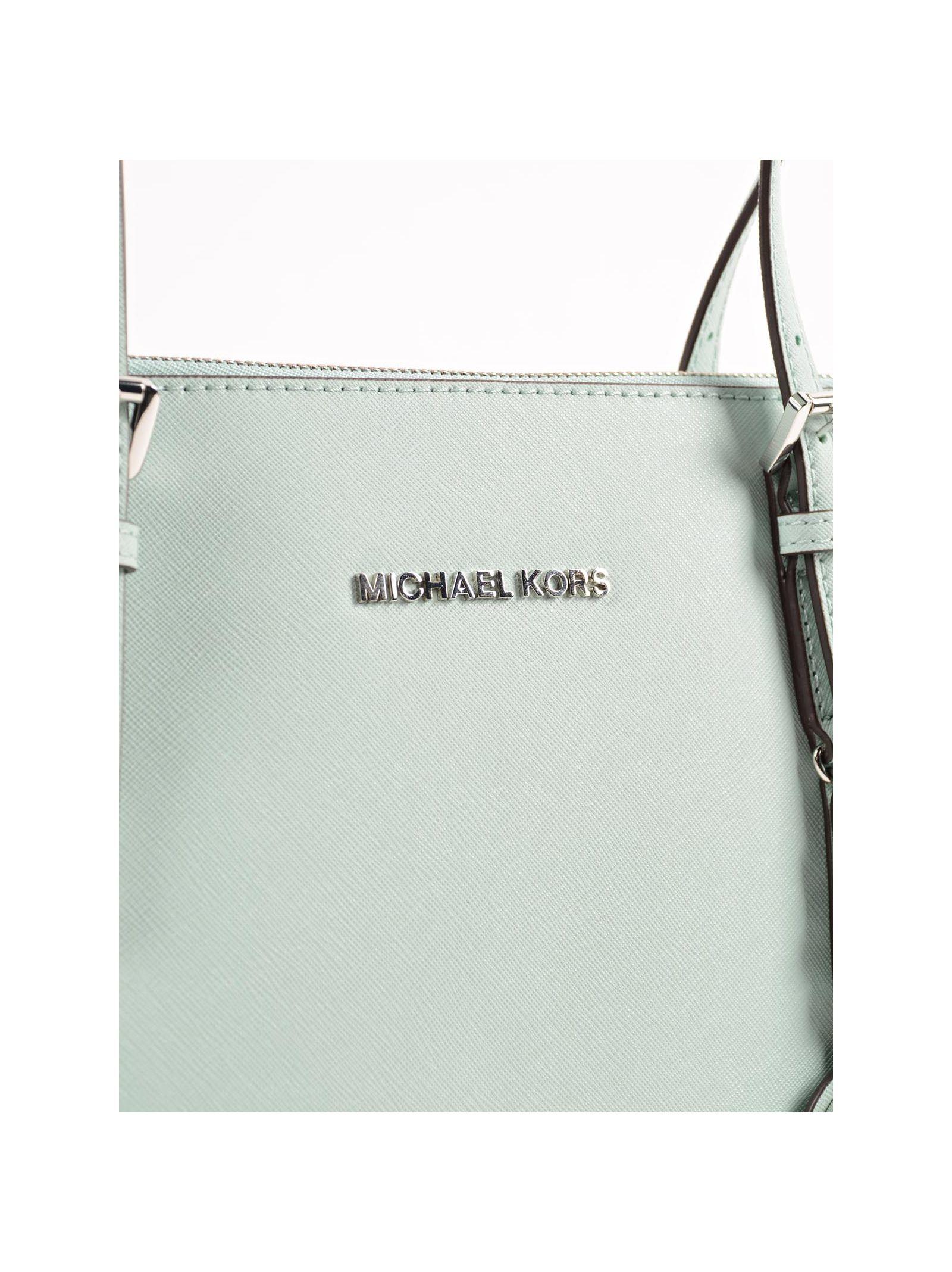 michael kors jet set item ew tz tote in white celadon lyst. Black Bedroom Furniture Sets. Home Design Ideas