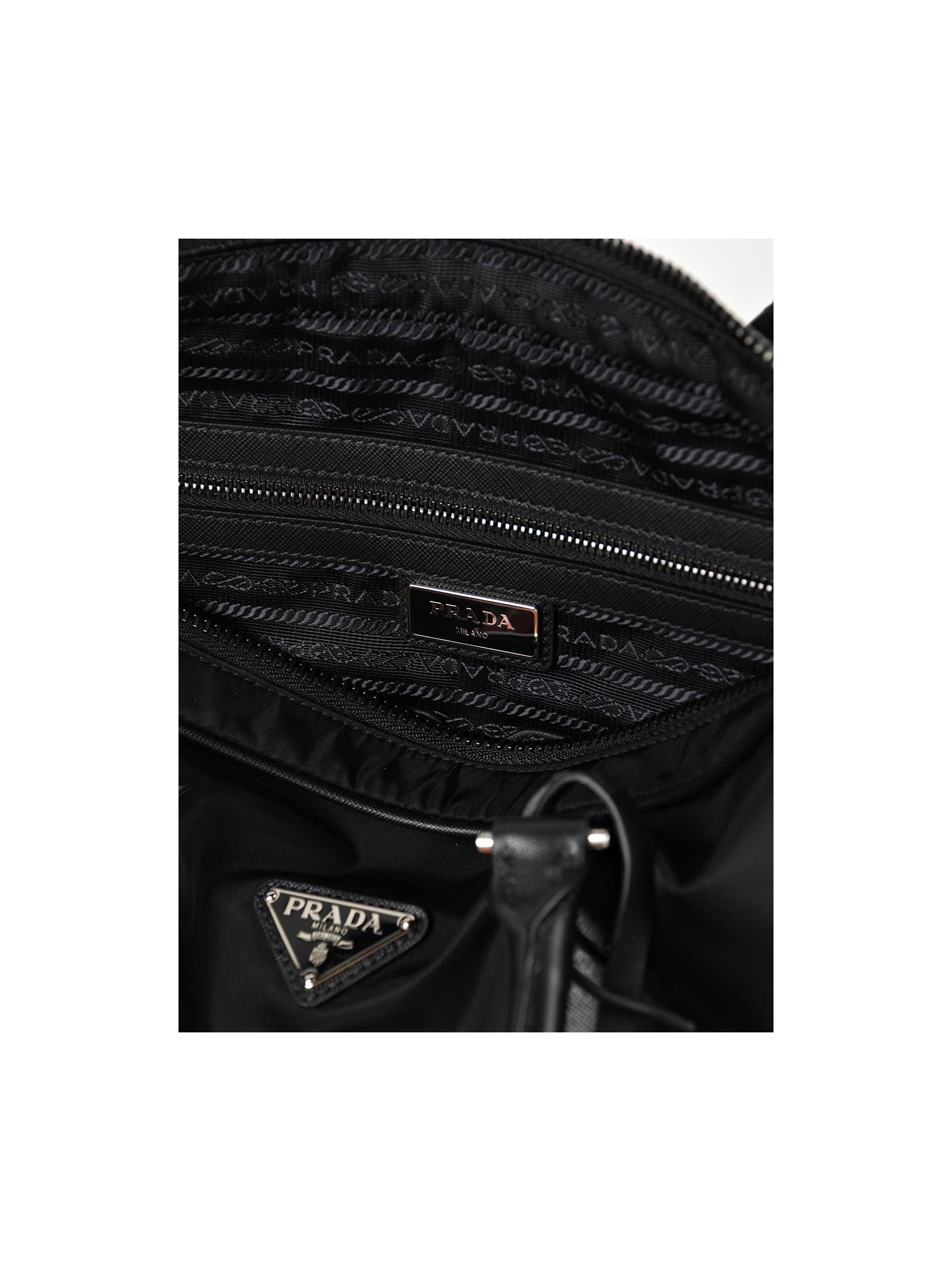 prada bag designs - Prada Tessuto+saffiano in Black (Nero) | Lyst