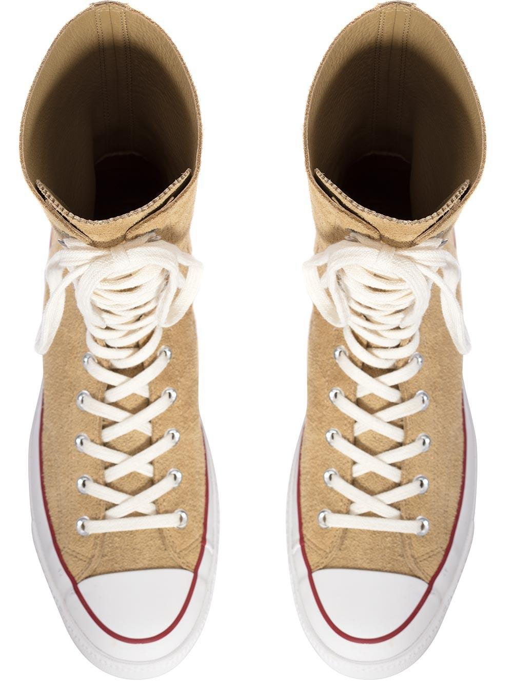 d4d9637e6a39 JW Anderson Mens Gold Suede Chuck Taylor Knee High Converse in ...