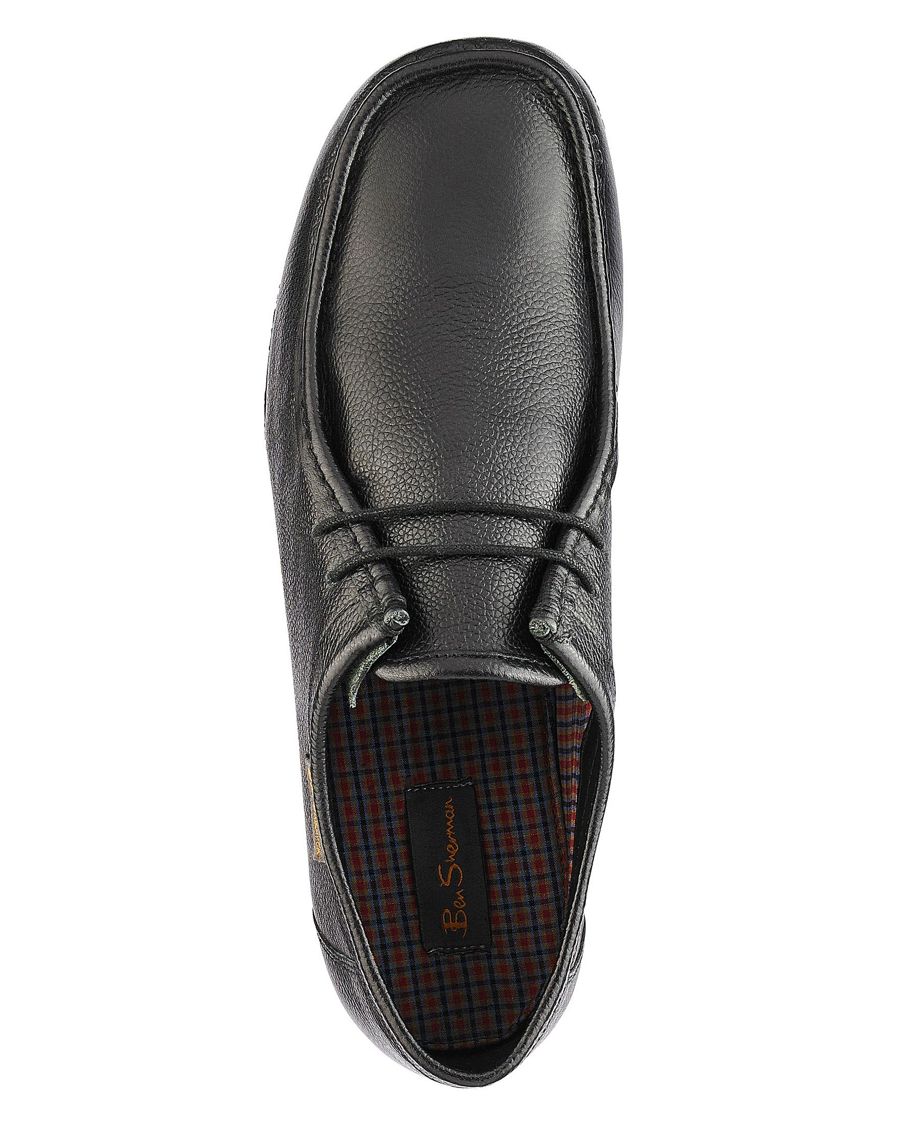 6184bd582d Ben Sherman - Black Quad Wallabee Wide Fit for Men - Lyst. View fullscreen