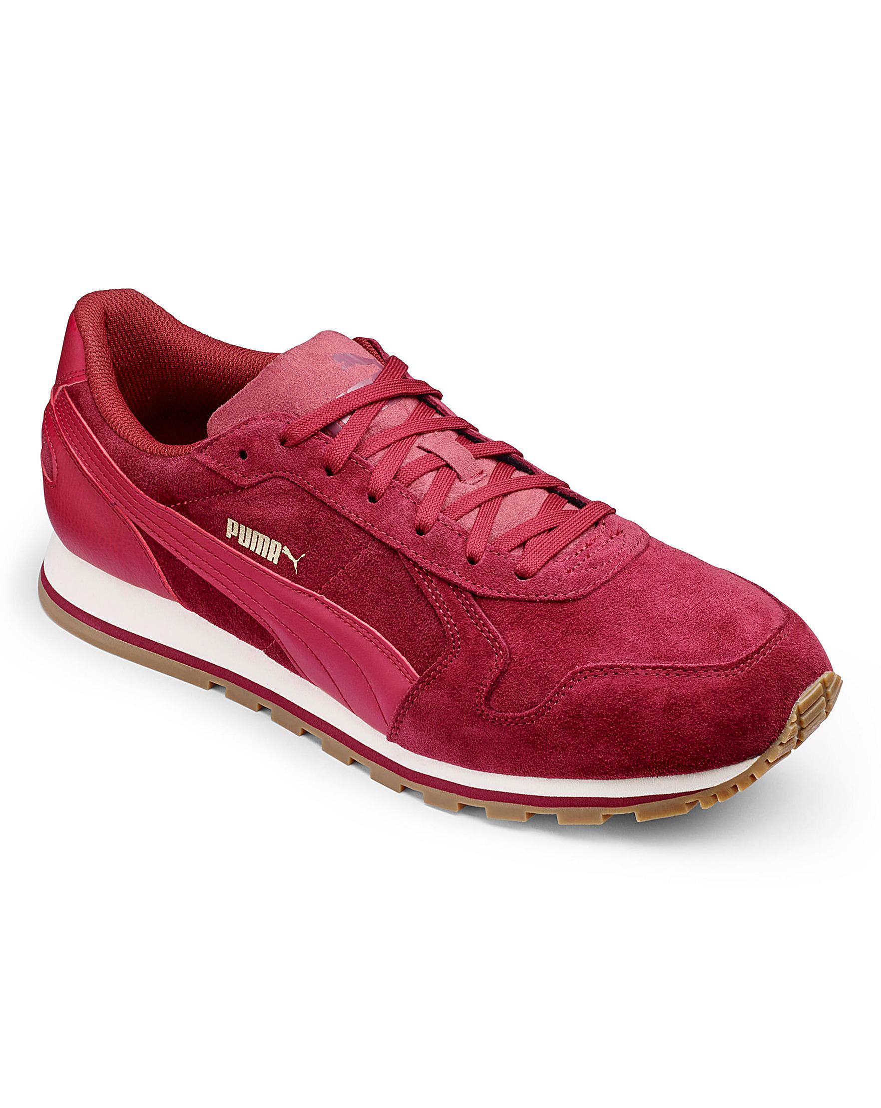 super popular a7801 caf7b puma red suede trainers