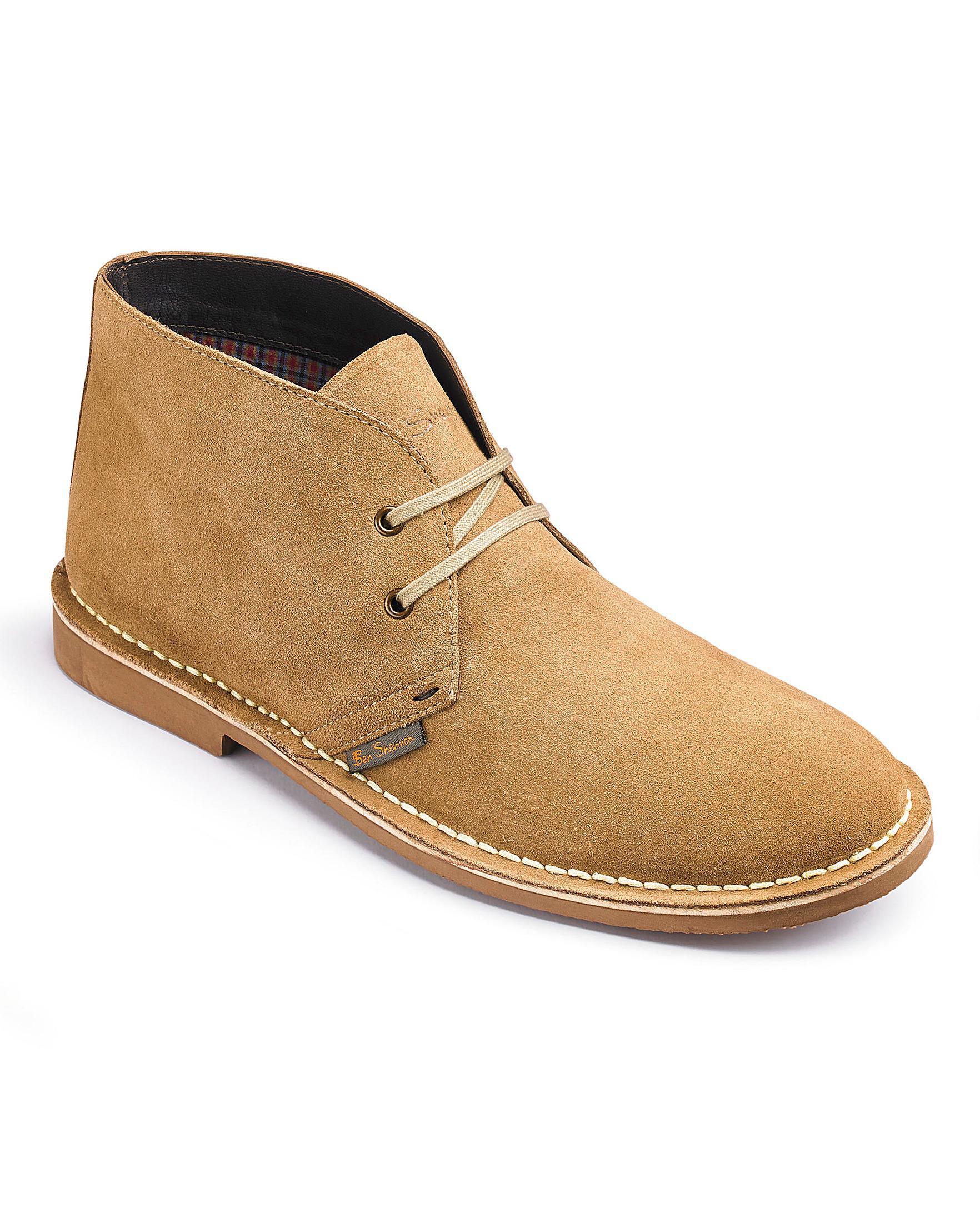 f4258050342 Ben Sherman Hunt Desert Boots Wide Fit in Natural for Men - Lyst