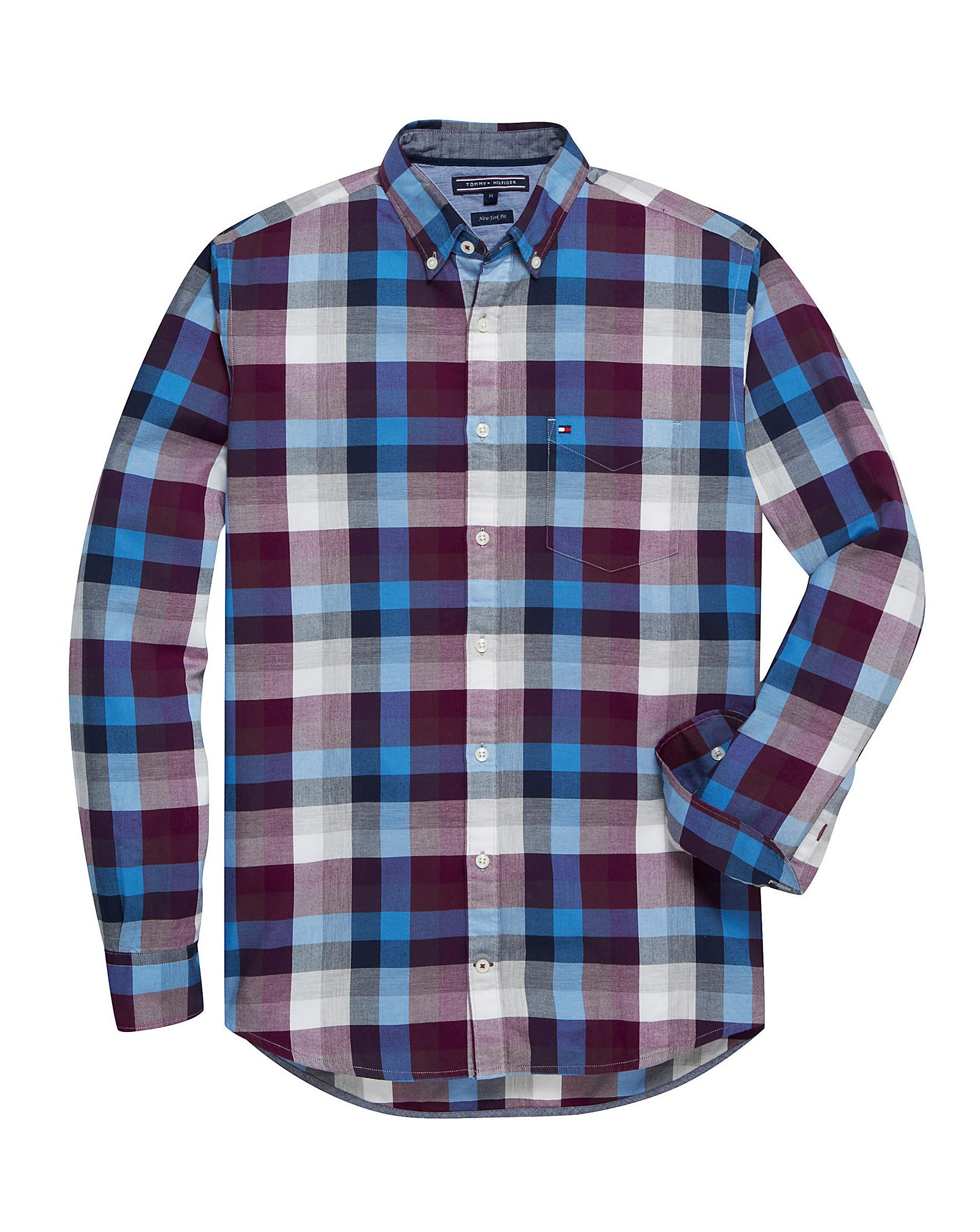 3d87a104 Tommy Hilfiger Mighty Large Check Shirt in Blue for Men - Lyst