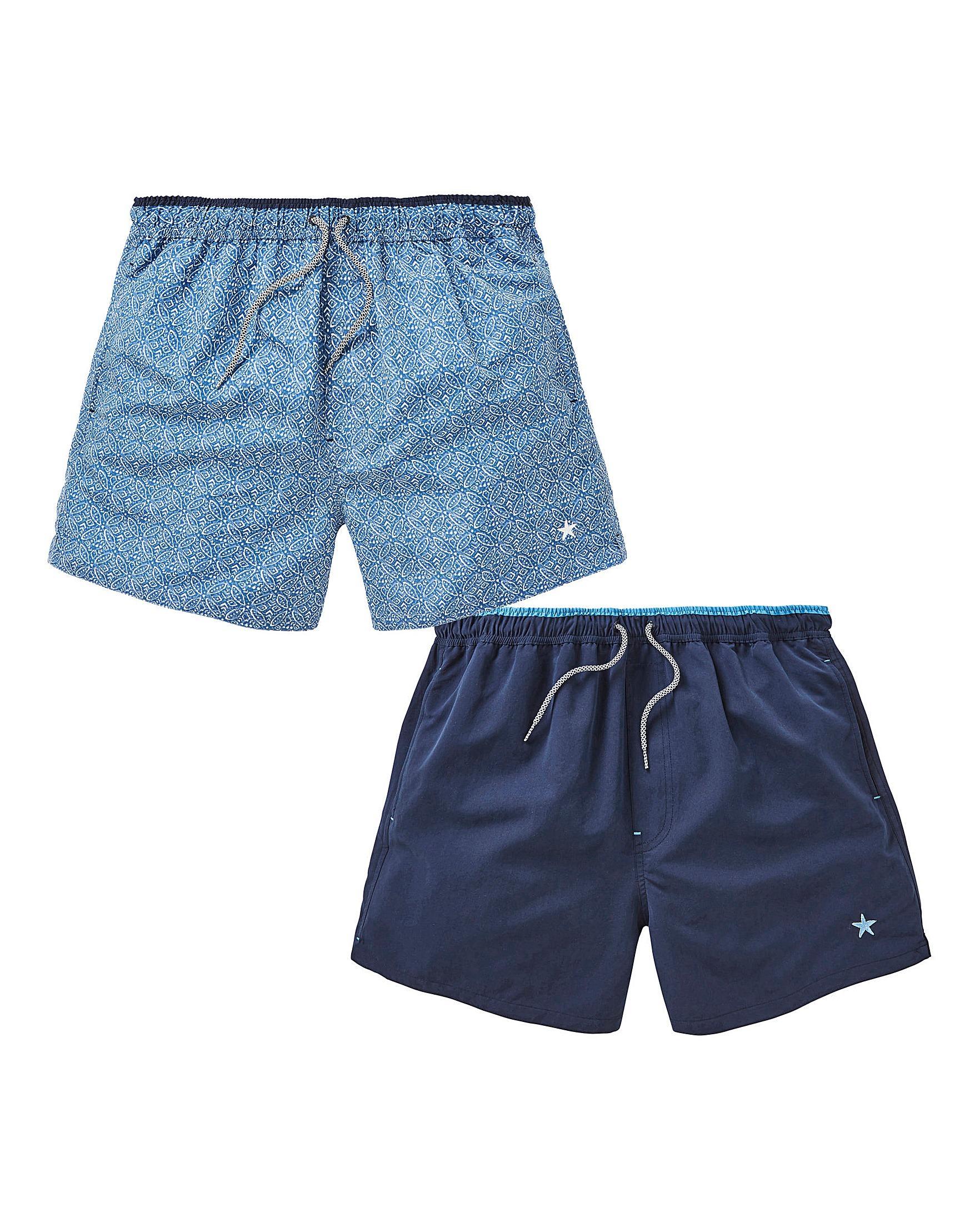0e86460352 ... Pack Of 2 Plain/print Swimshorts for Men - Lyst. View fullscreen
