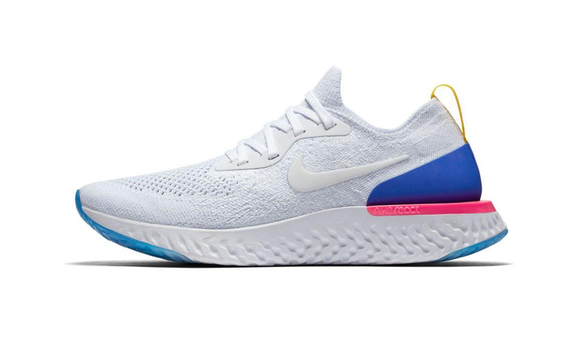 5841158f852 Nike - Blue Epic React Flyknit Running Shoe for Men - Lyst. View fullscreen
