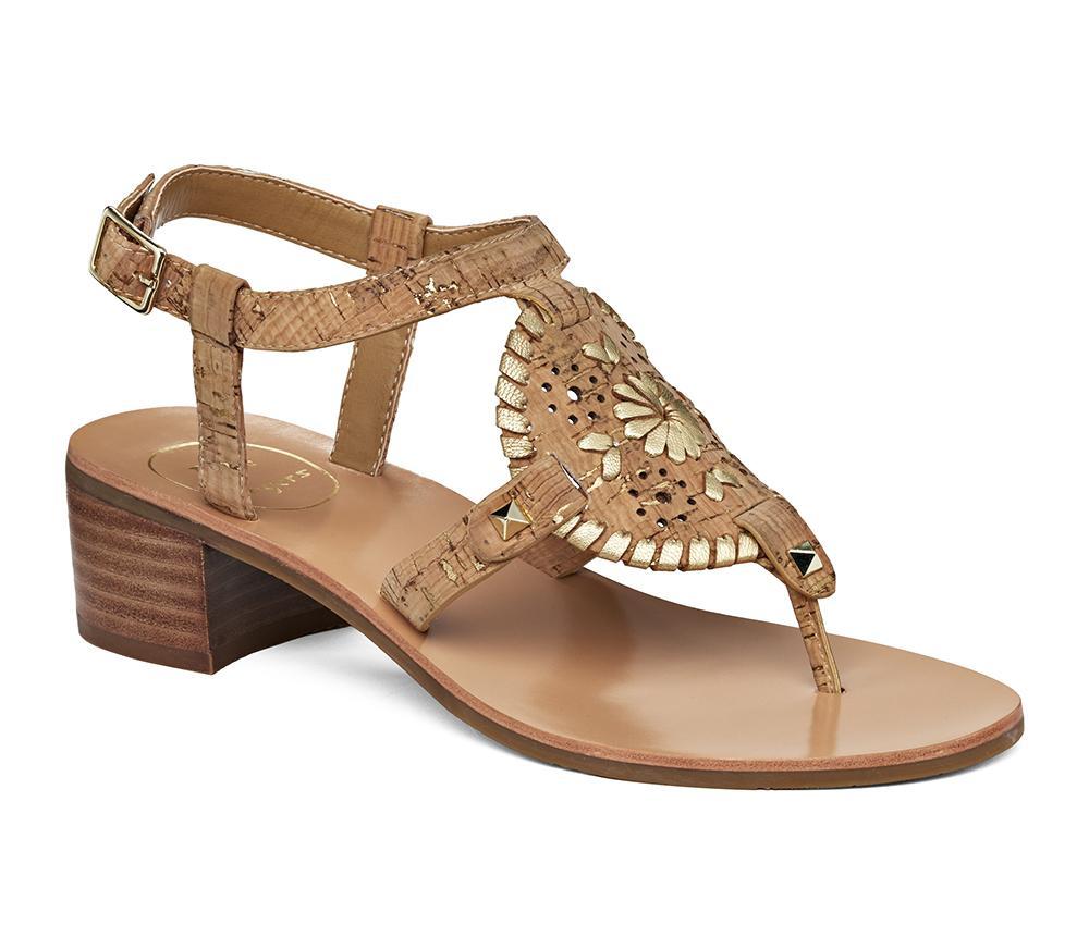 97eca5fbe926ac Lyst - Jack Rogers Gretchen Sandal in Metallic