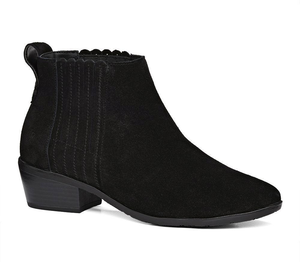 Liddy Waterproof Suede Block Heel Booties t1jWzQc06