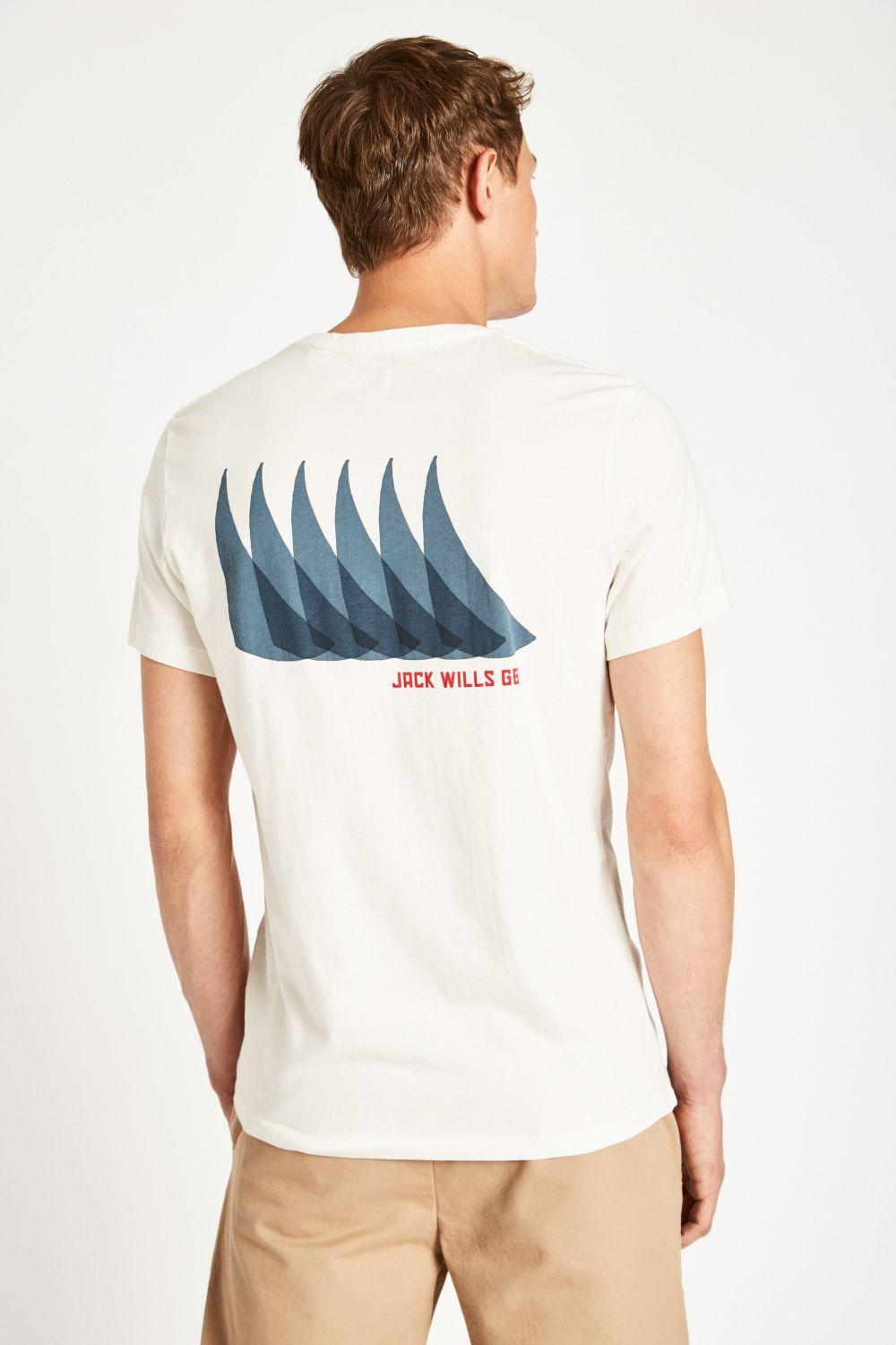 56381a349c Jack Wills Sparrow Graphic Tee in White for Men - Lyst