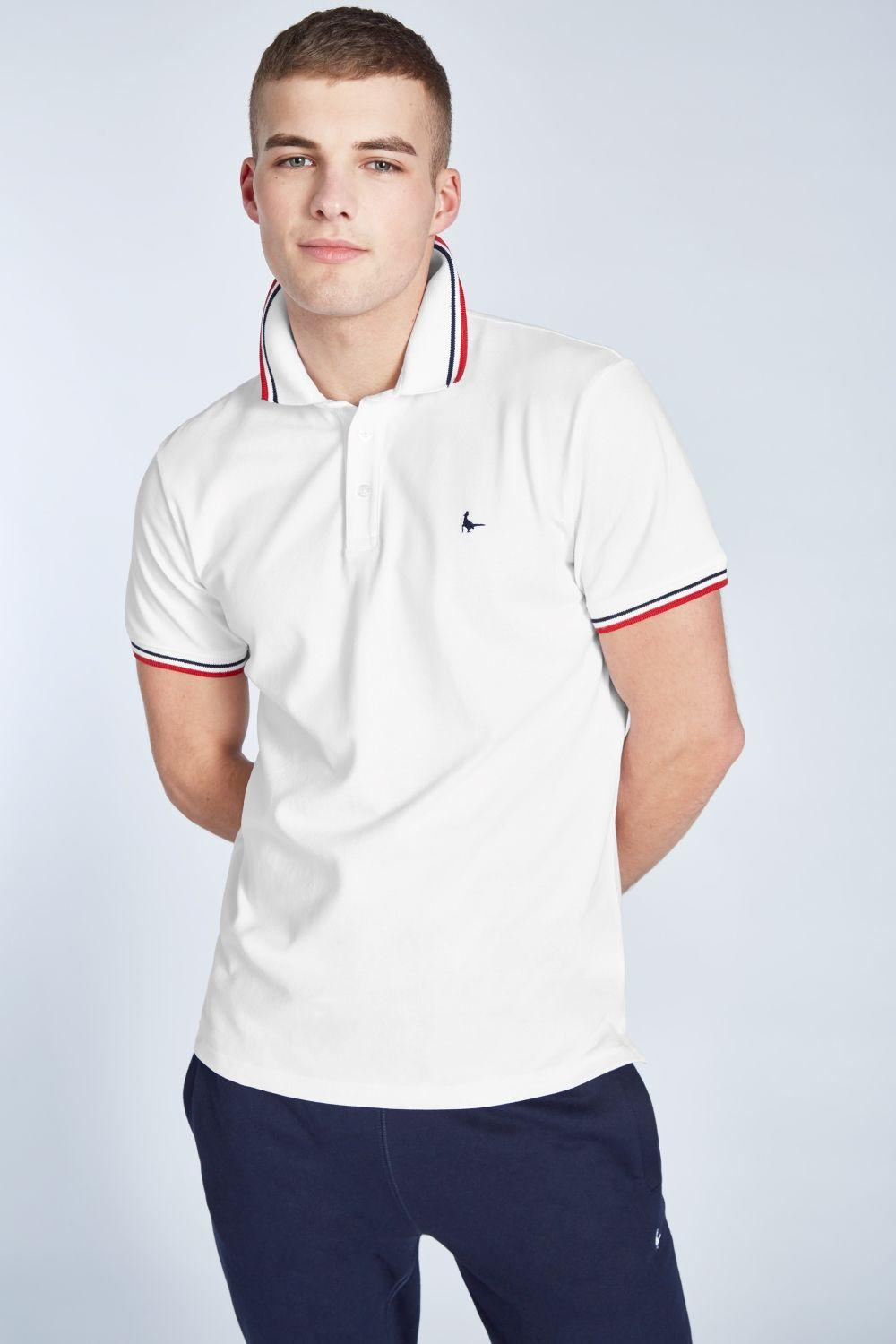 4ac52a0d034 Lyst - Jack Wills Edgeware Tipped Polo in White for Men